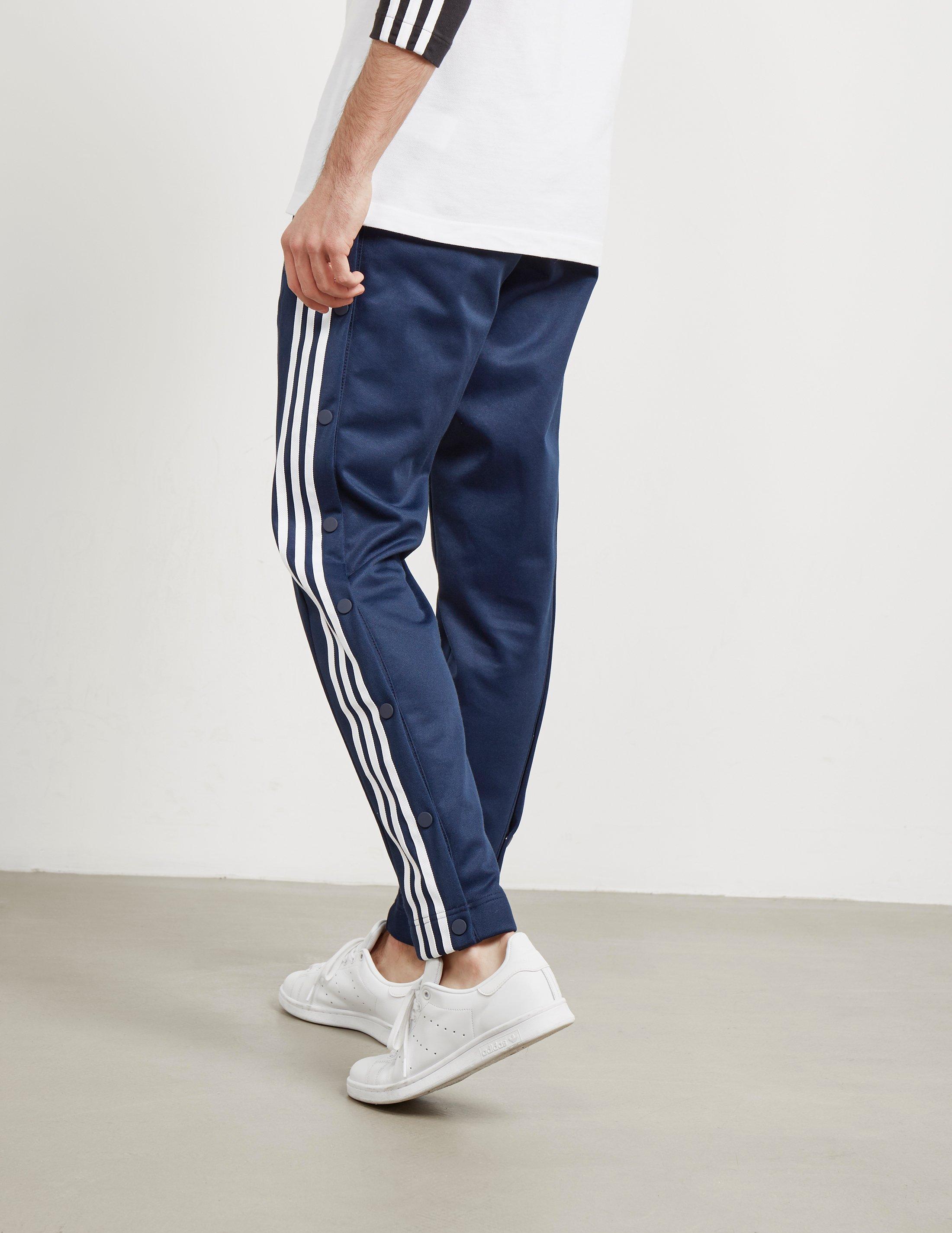 adidas Originals Cotton Mens Adibreak Snap Track Pants Navy