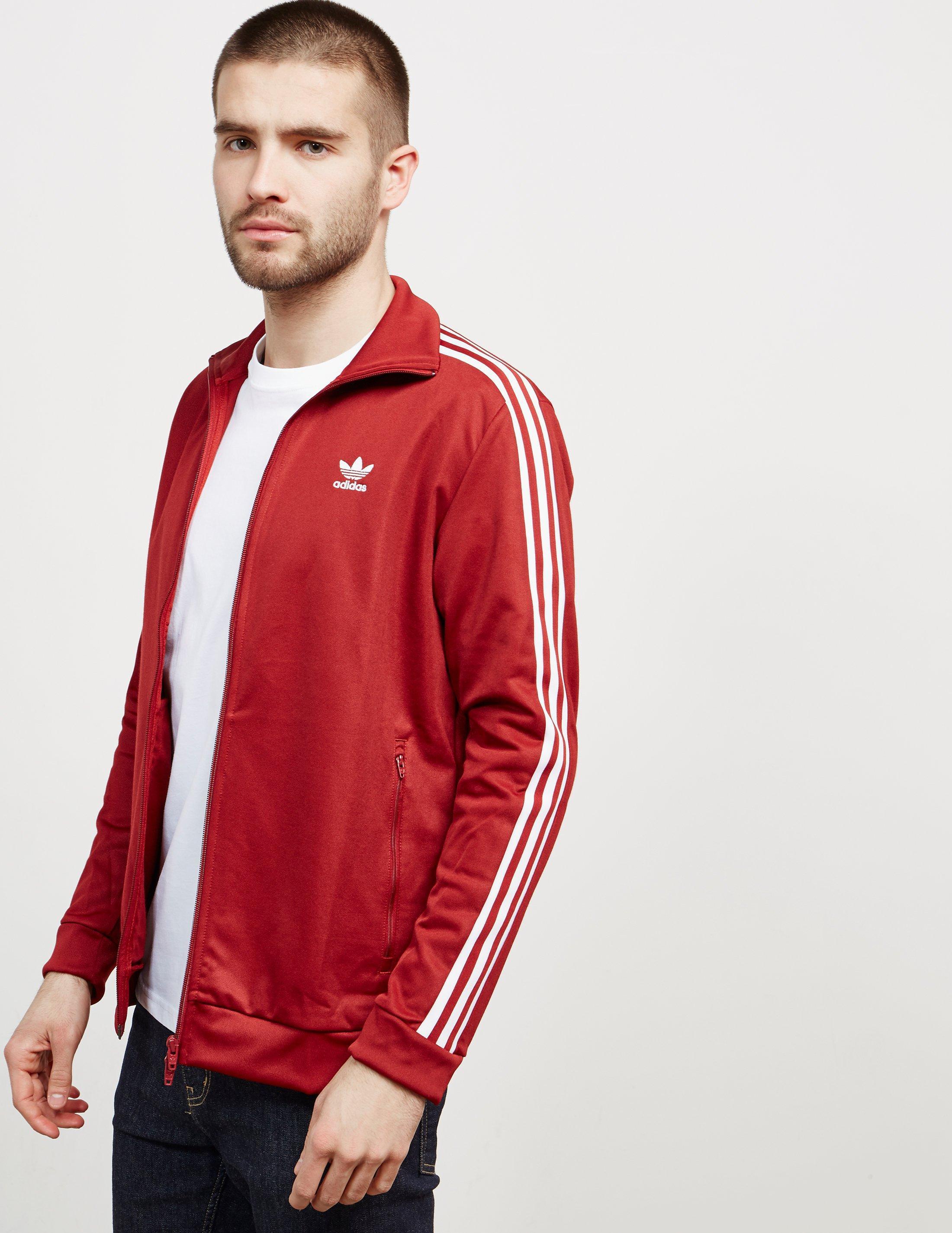 Adidas Originals Mens Beckenbauer Full Zip Track Top Red for men