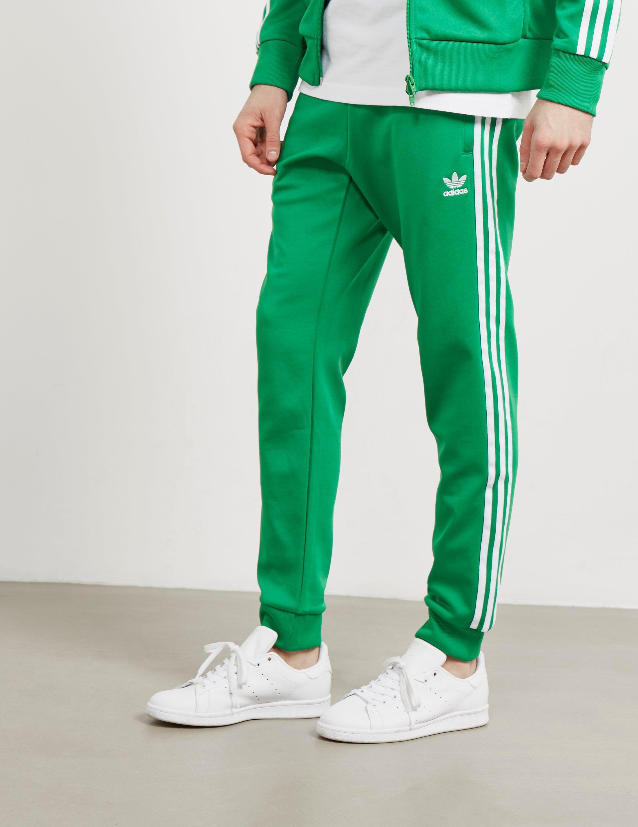 premium selection e9985 56ceb adidas Originals Mens Superstar Track Pants Green in Green for Men ...
