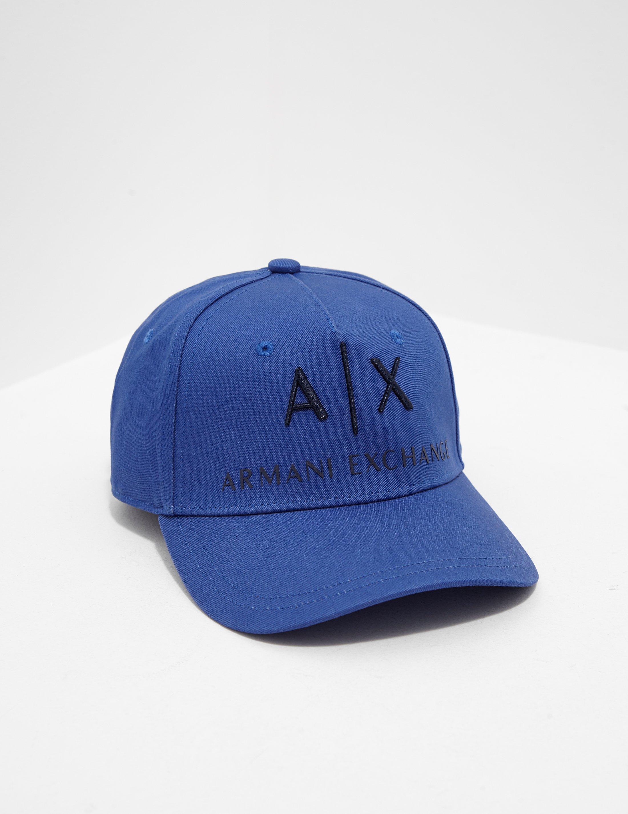 8435b250 Lyst - Armani Exchange Cotton Logo Cap Blue in Blue for Men - Save 56%