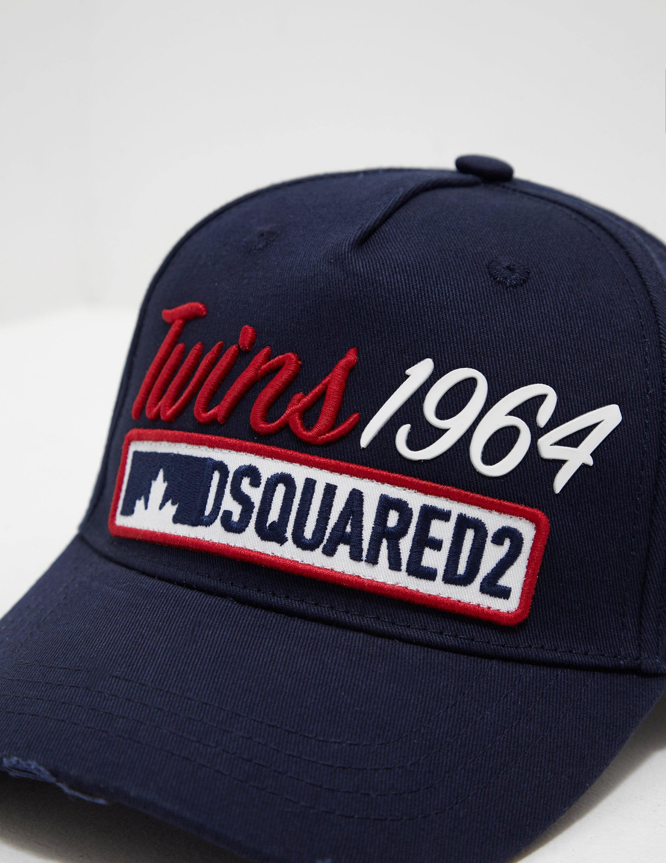 29d97ccd376 Lyst - DSquared² Mens Twins 1964 Cap Navy Blue in Blue for Men
