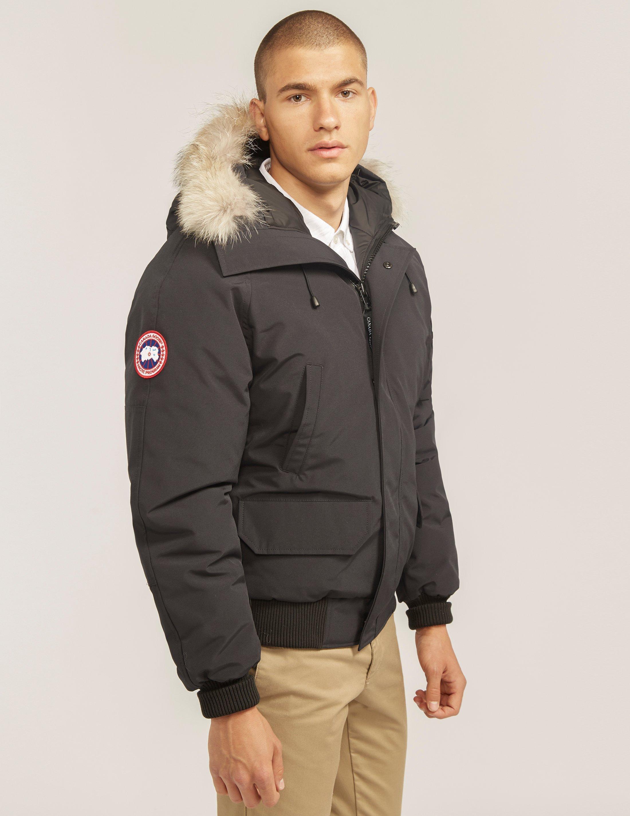 canada goose black bomber jacket