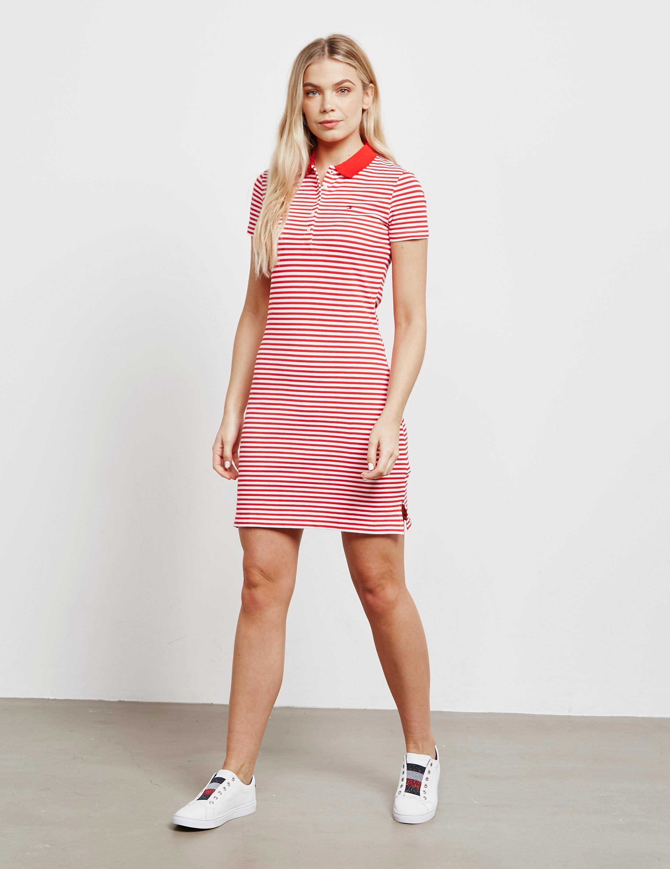 a5db0918c49 Lyst - Tommy Hilfiger Chiara Polo Shirt Dress Red in Red