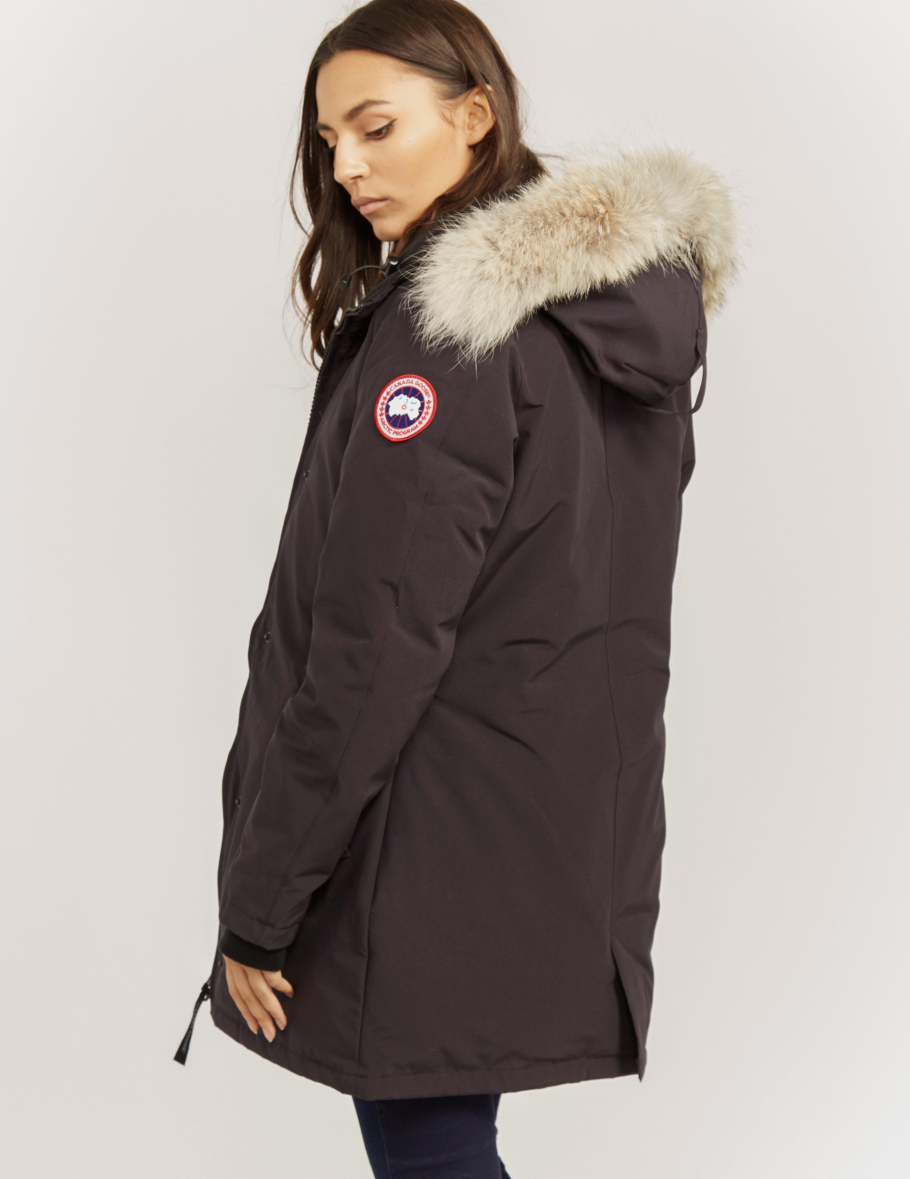 canada goose womens victoria padded parka jacket blue in blue save rh lyst ca