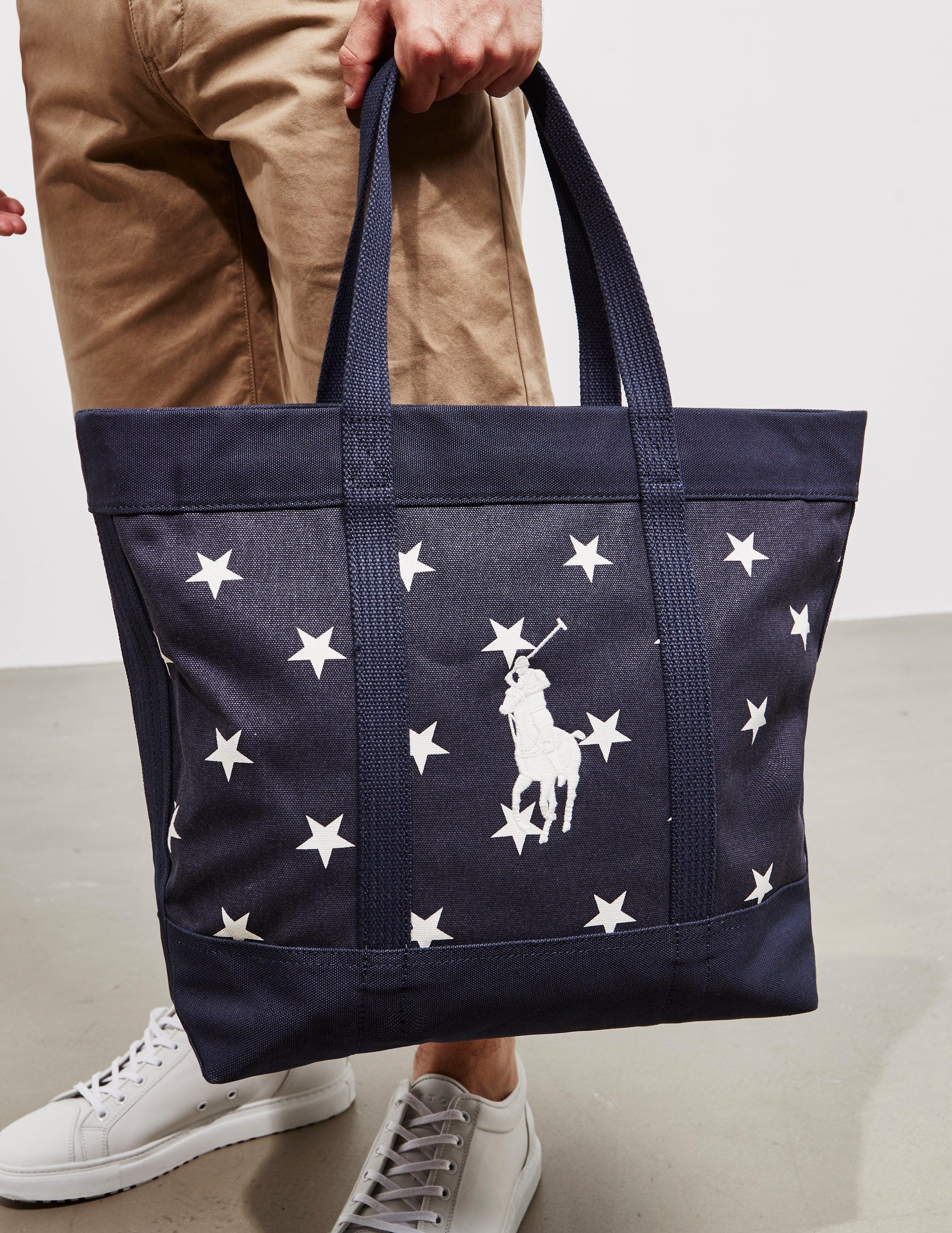 f10fbea48452 Lyst - Polo Ralph Lauren Mens Stars Tote Bag - Online Exclusive Navy ...
