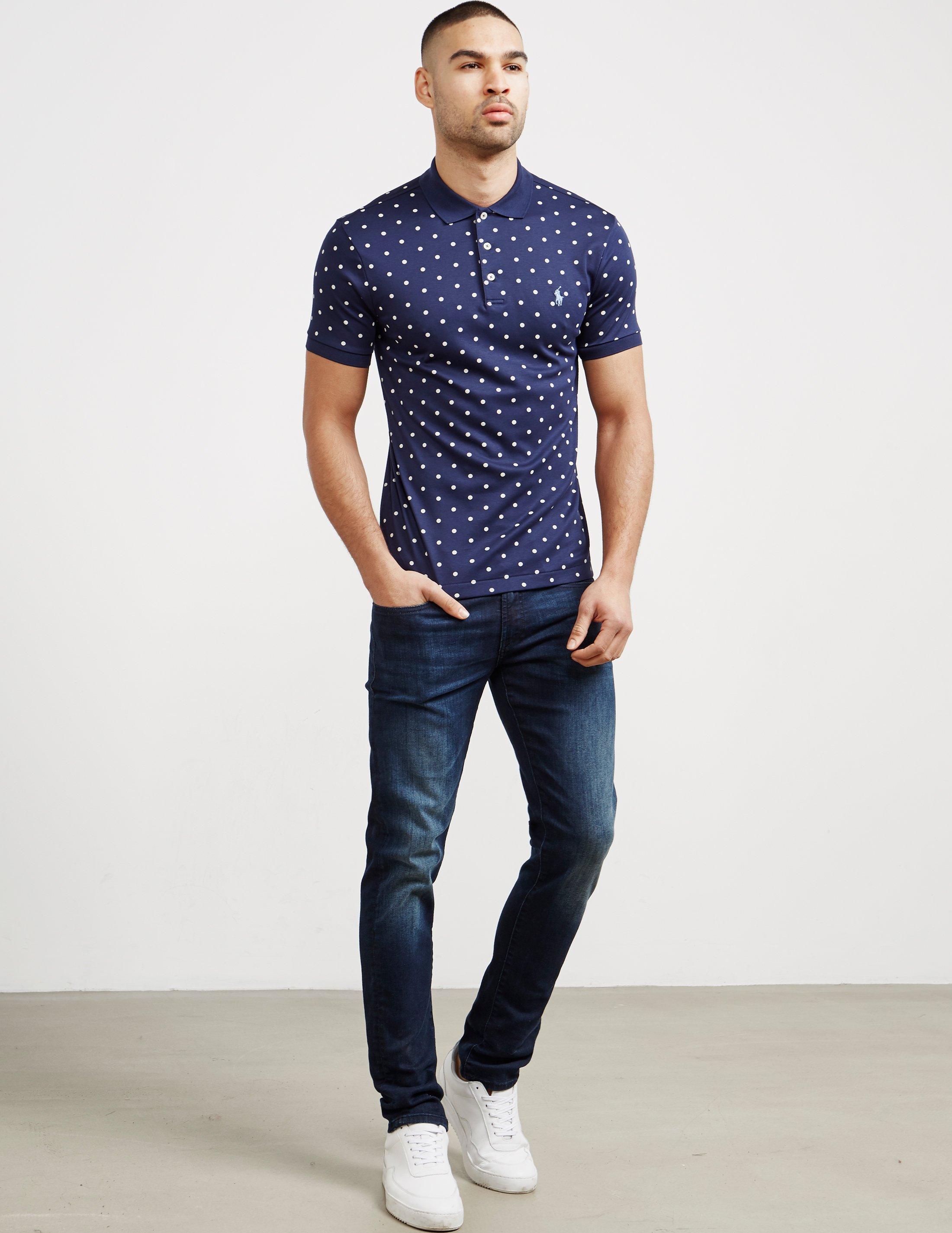 Lyst Polo Ralph Lauren Mens Dot Short Sleeve Polo Shirt Online