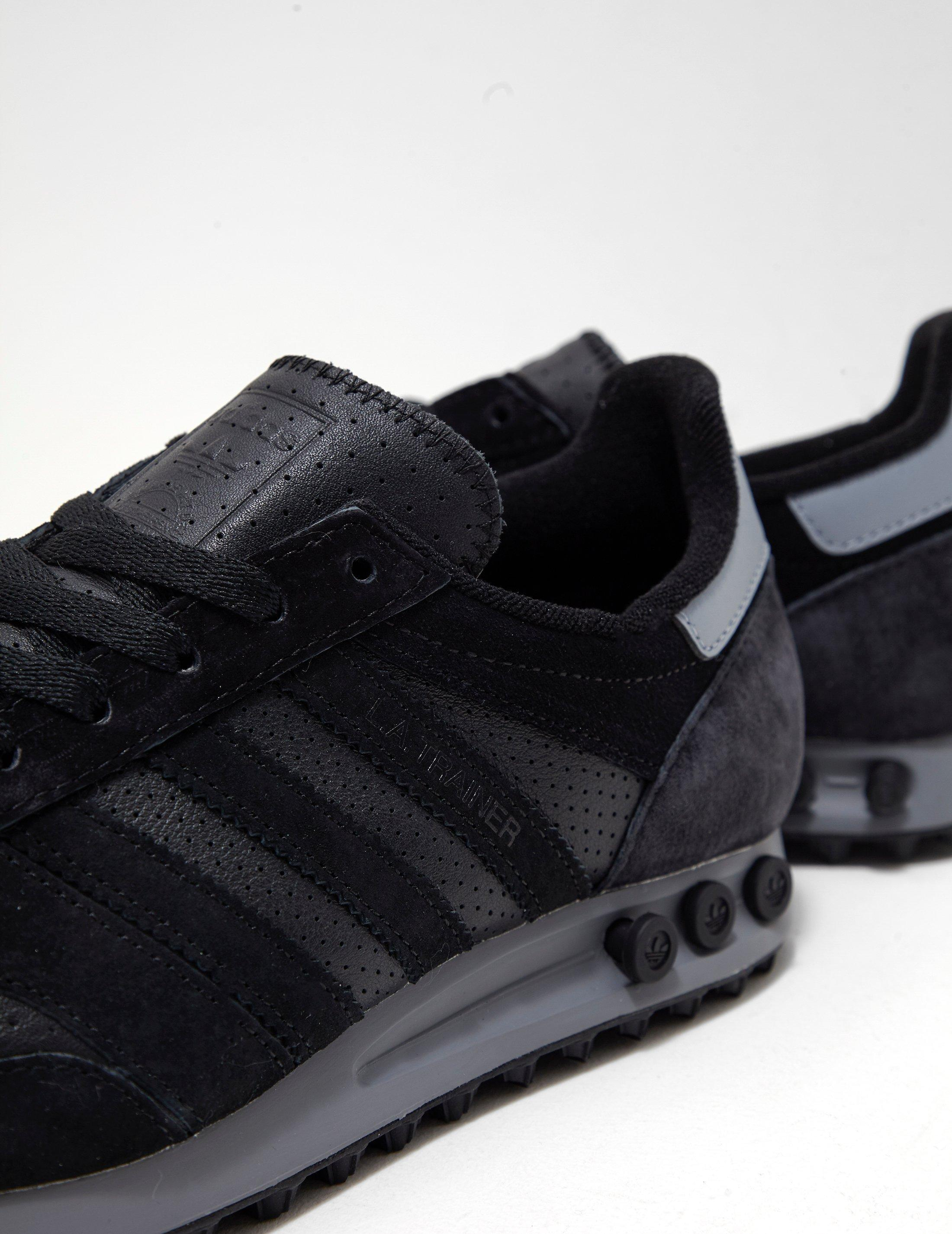 Mens La Trainer Leather Black