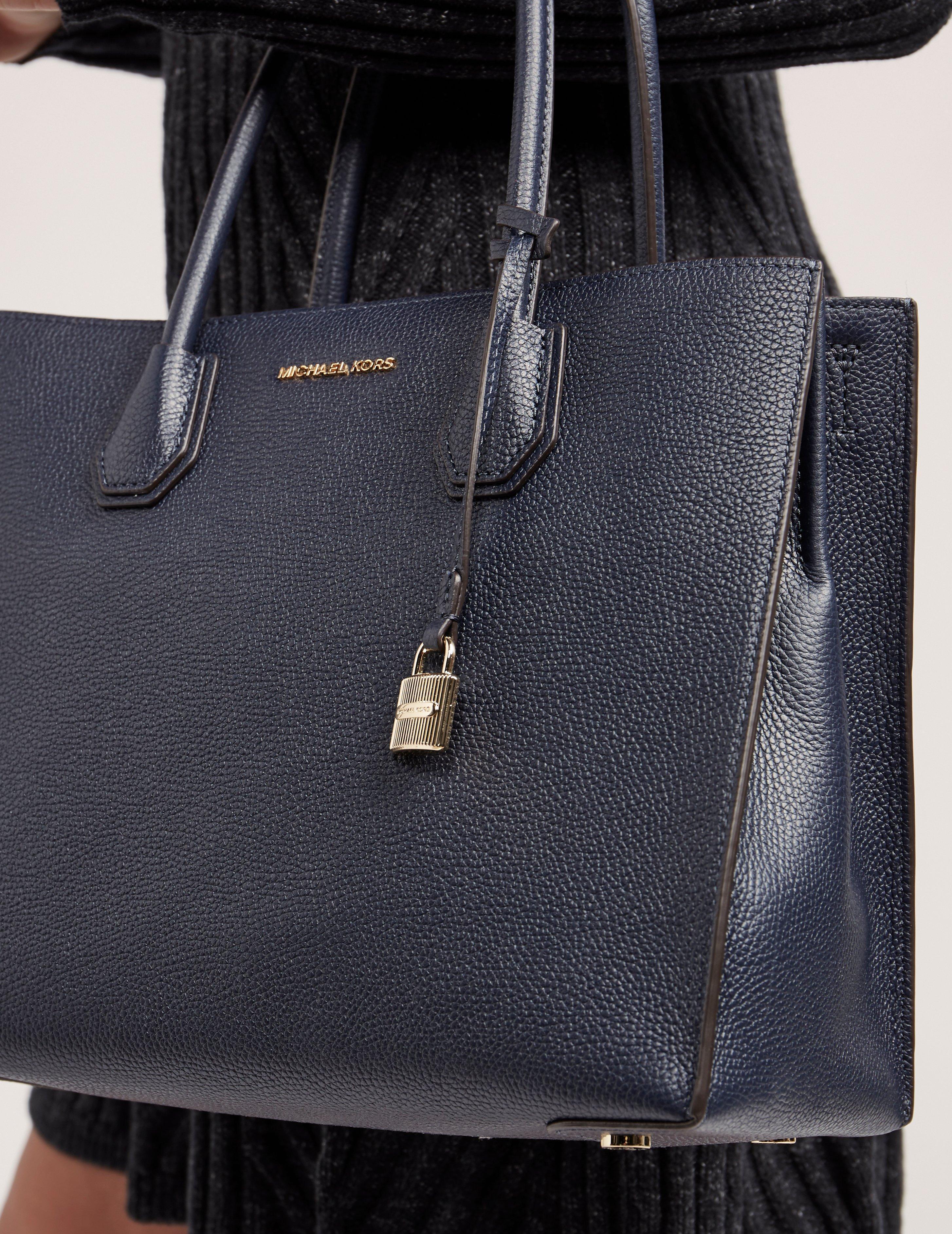 6eb122f6cb3b Michael Kors - Mercer Large Convertible Tote Bag Navy Blue - Lyst. View  fullscreen