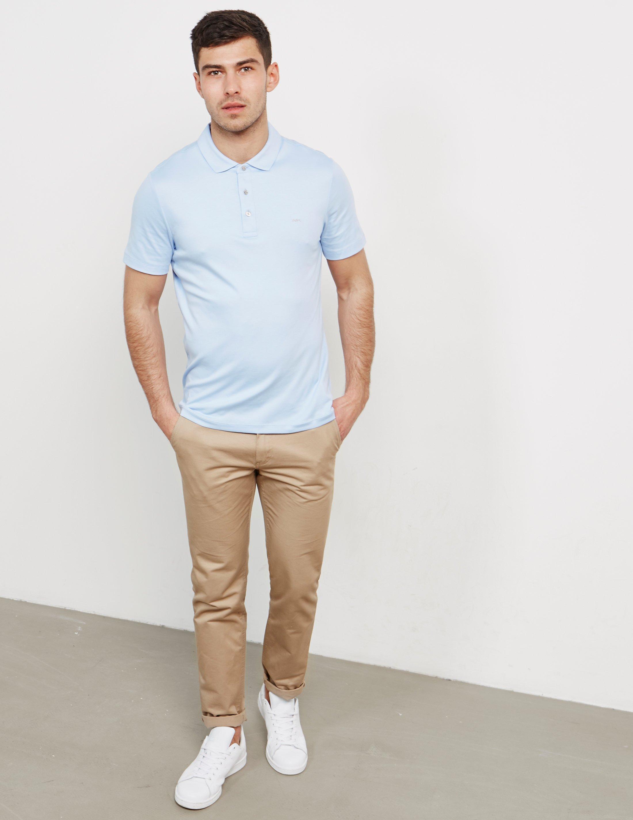 7ed7db0a Lyst - Michael Kors Sleek Short Sleeve Polo Shirt Blue in Blue for ...