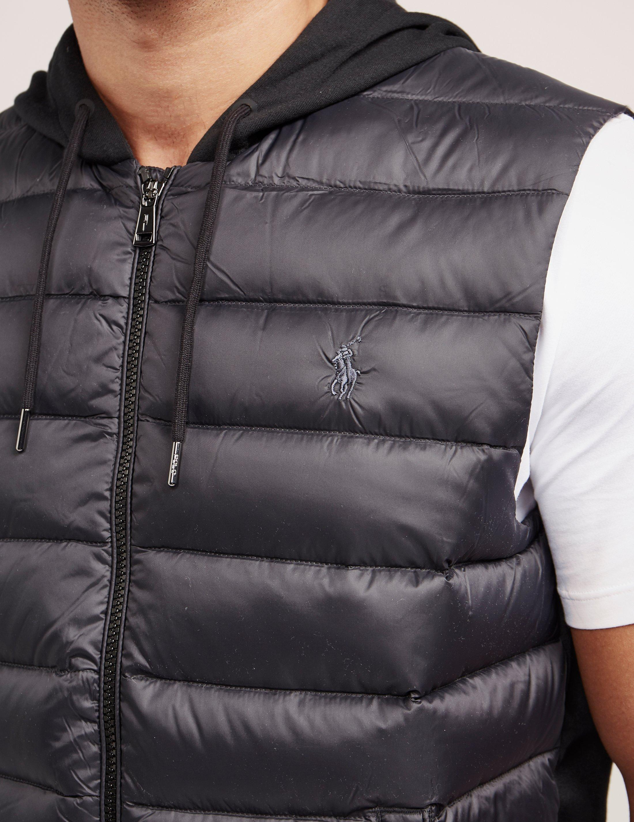 ... netherlands lyst polo ralph lauren mens down padded hooded gilet black  in 7ab17 ac626 571b72bbc402