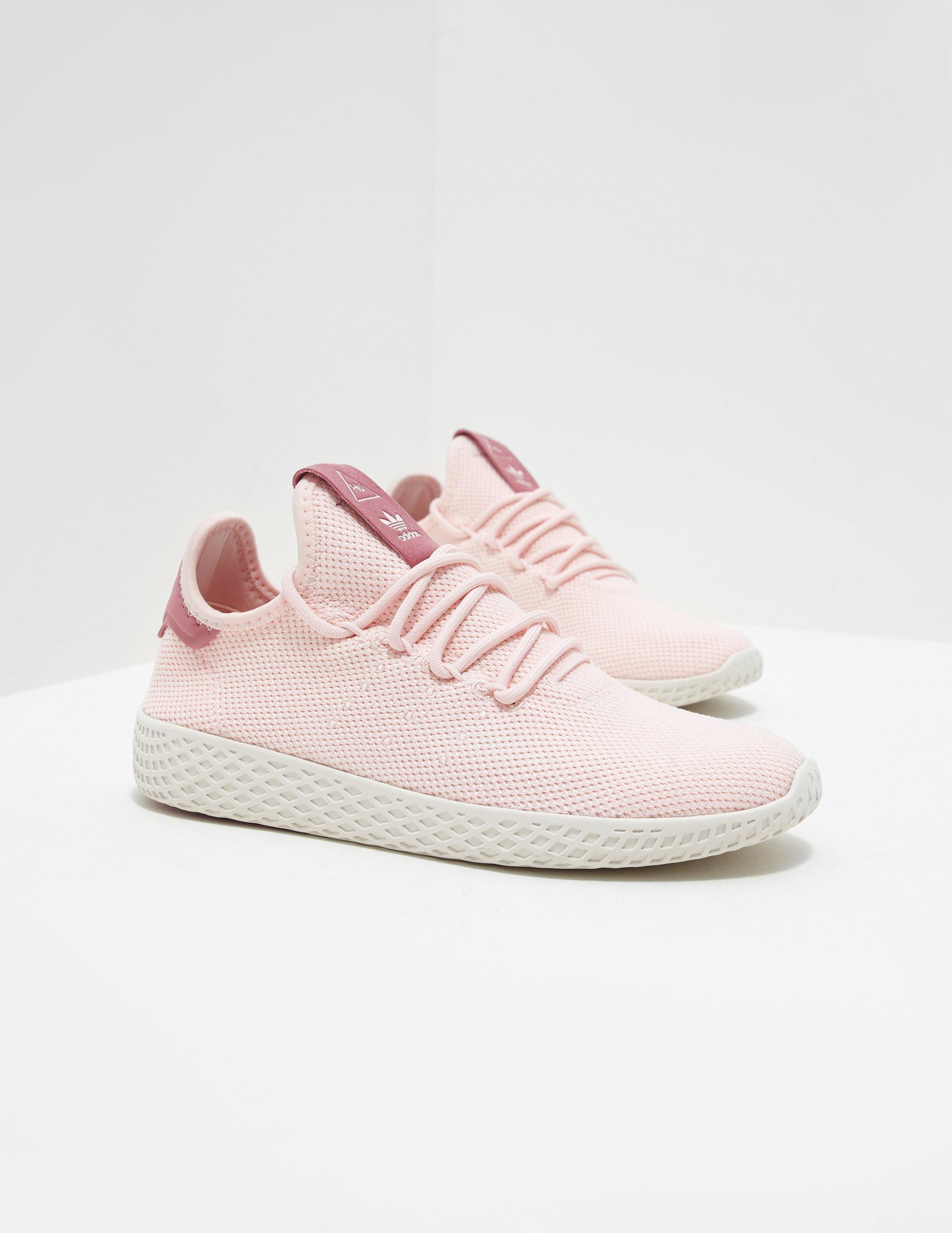 adidas Originals Rubber Tennis Hu Sneakers in Ice Pink,White (Pink)
