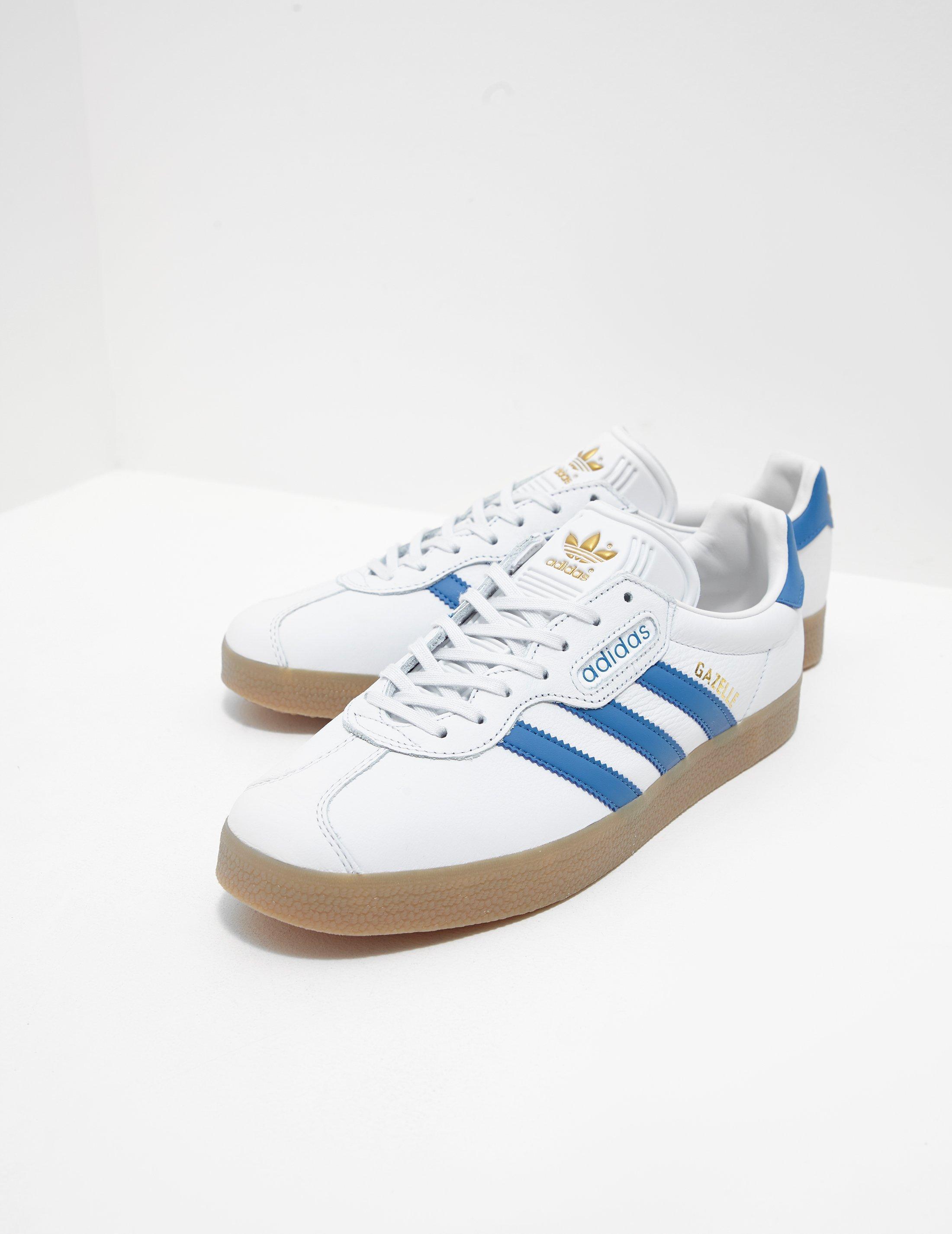 Mens Gazelle Super White/blue