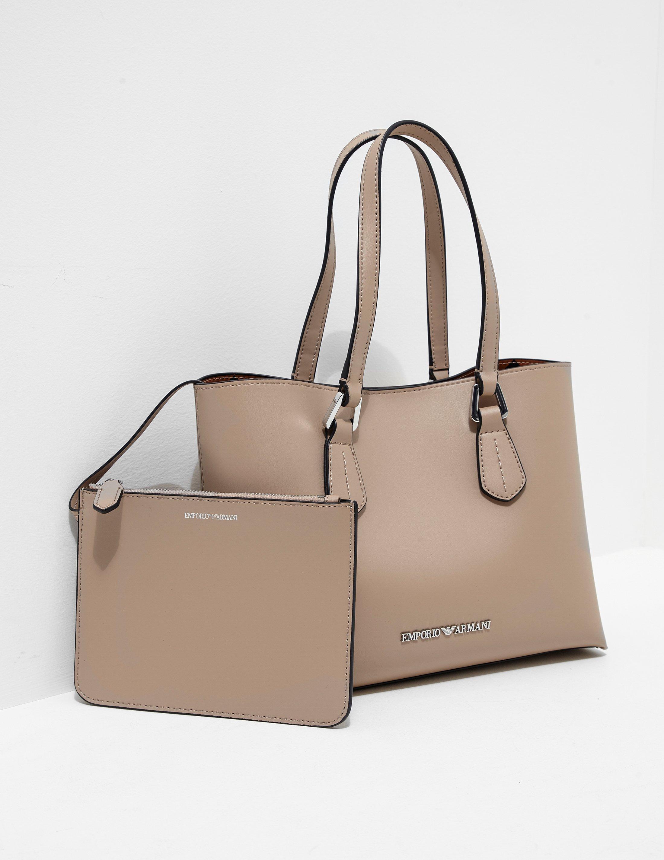 Lyst - Emporio Armani Womens Wilma Medium Shopper Bag Beige in Natural bd0d9a7c183fe
