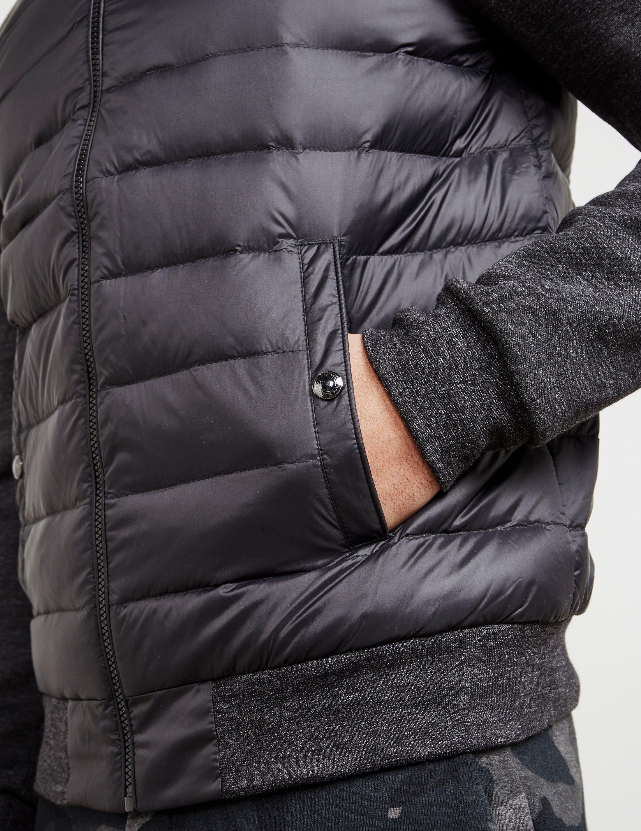 5ff793774 Polo Ralph Lauren Mens Hybrid Bomber Padded Jacket Black for Men - Lyst