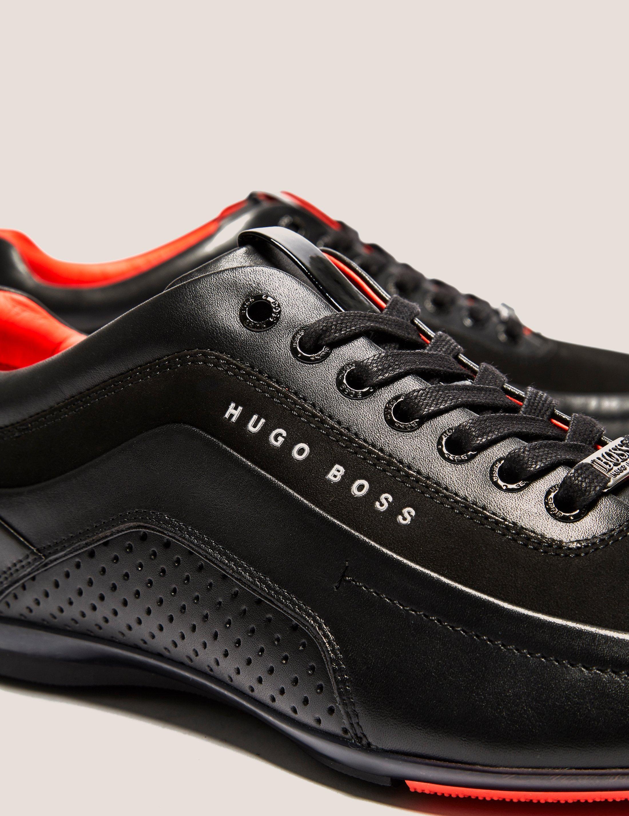 Hugo Boss Leather Racing Trainer