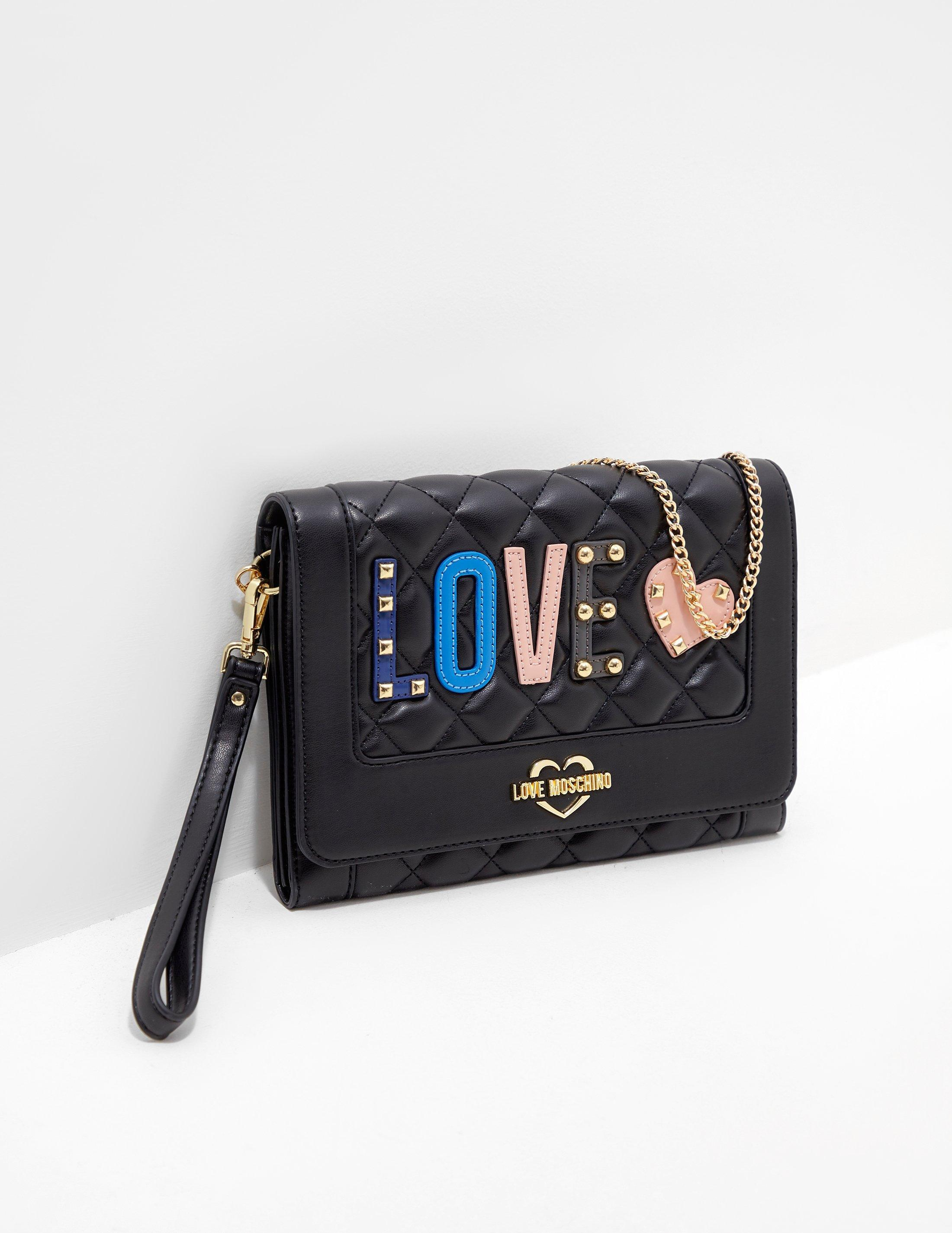 c7d46ccc2e44 Love Moschino - Womens Quilted Shoulder Bag Black - Lyst. View fullscreen