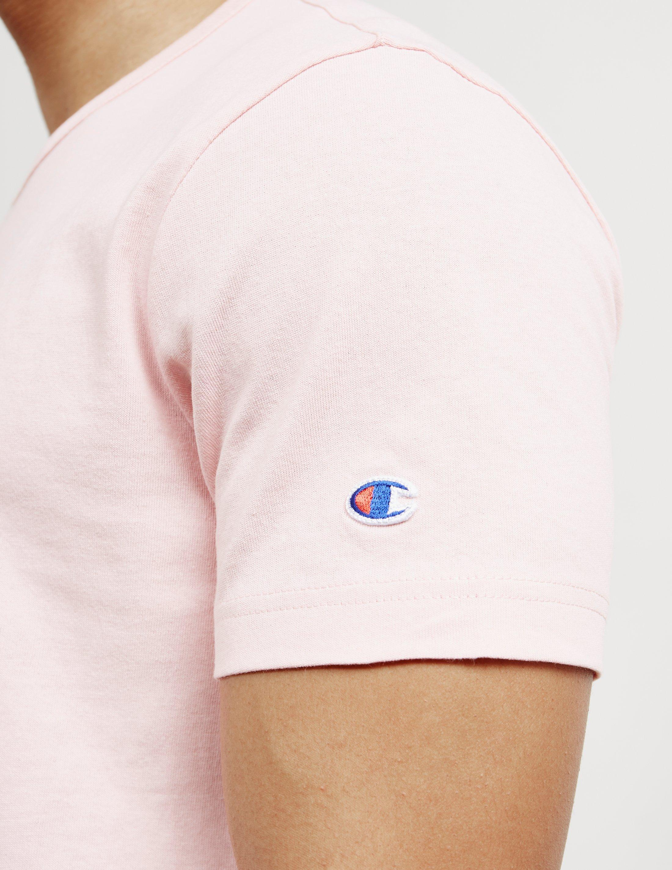 2938d7c1 Champion Mens Large Print Logo Short Sleeve T-shirt Pink in Pink for ...
