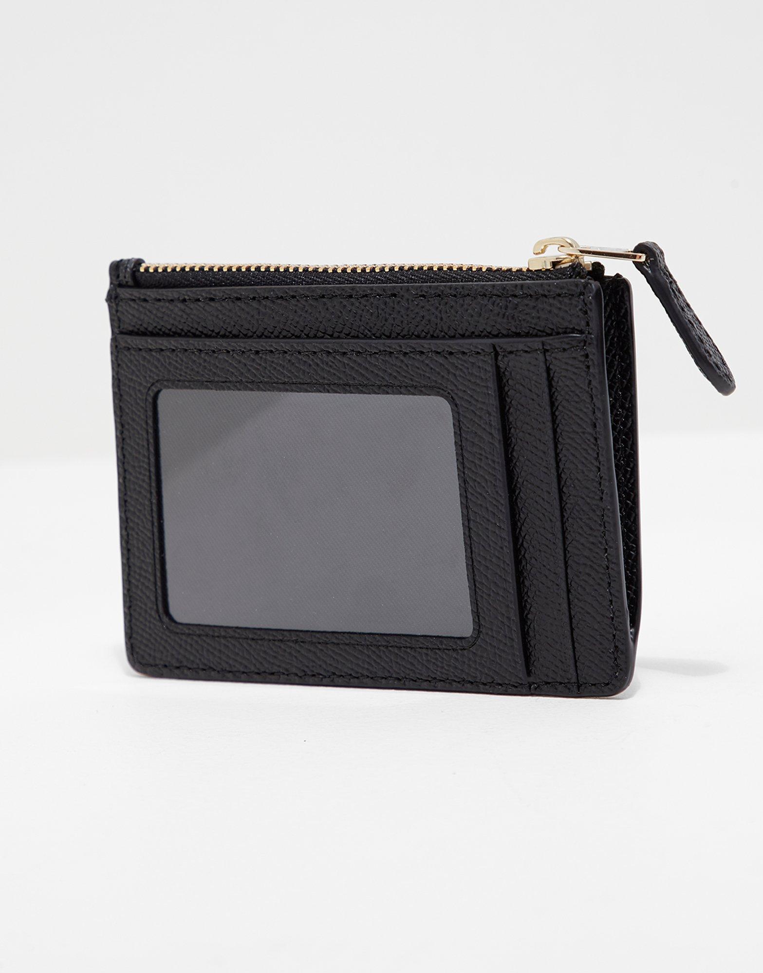 f31d1145d9 COACH Leather Womens Mini Card Holder Black - Lyst