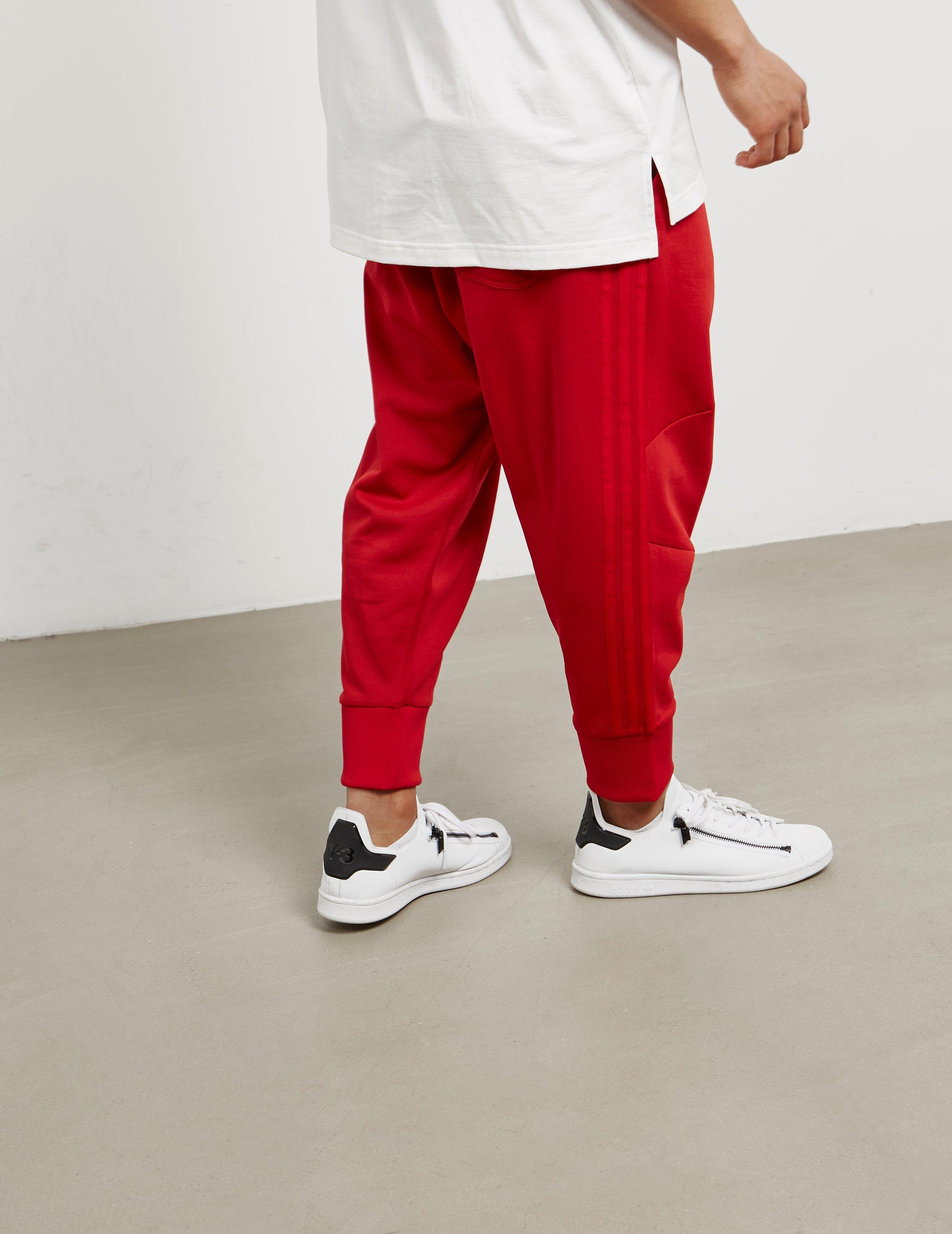 ae90d9b80 Lyst - Y-3 Mens Three Stripe Track Pants Red in Red for Men
