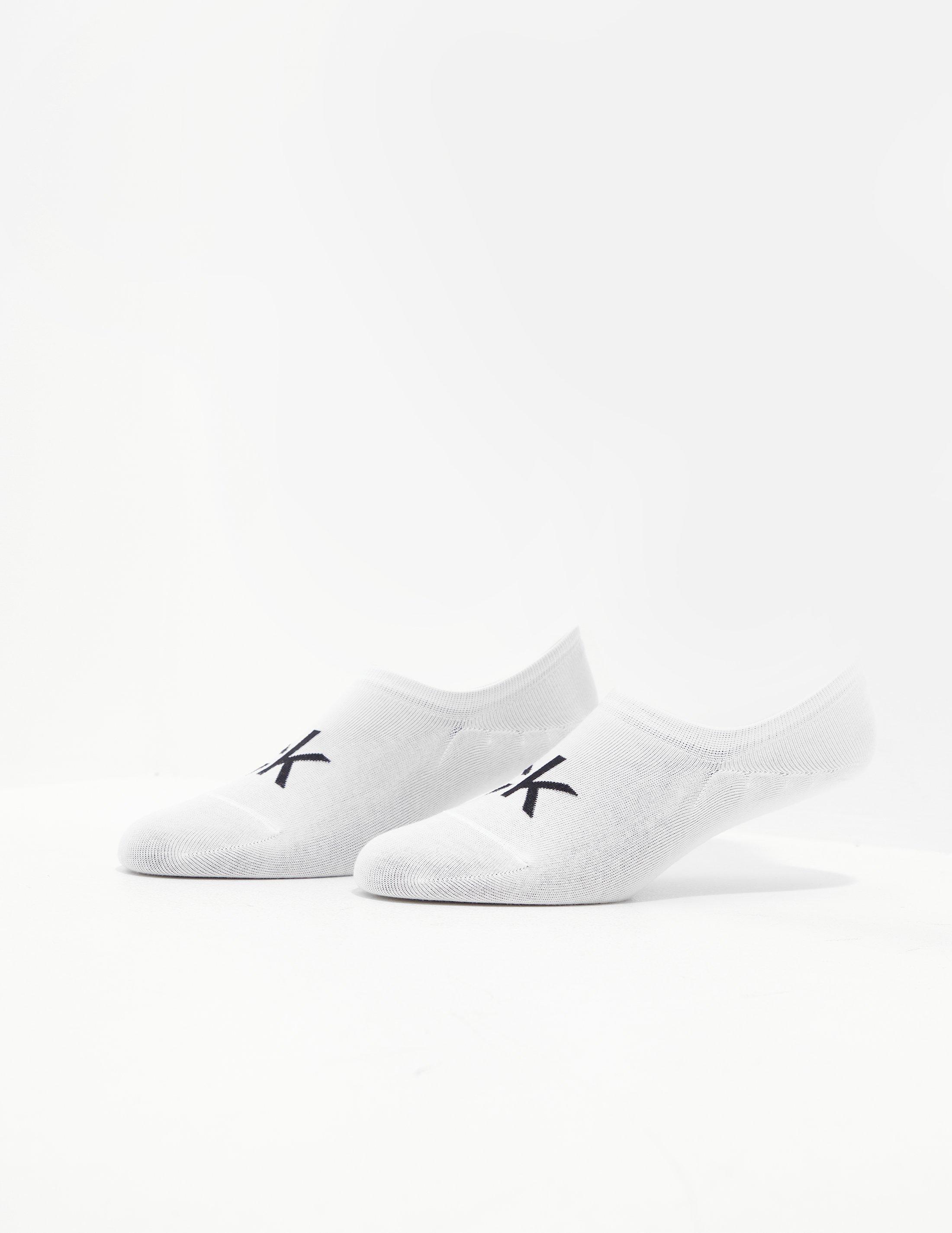 calvin klein white trainer socks
