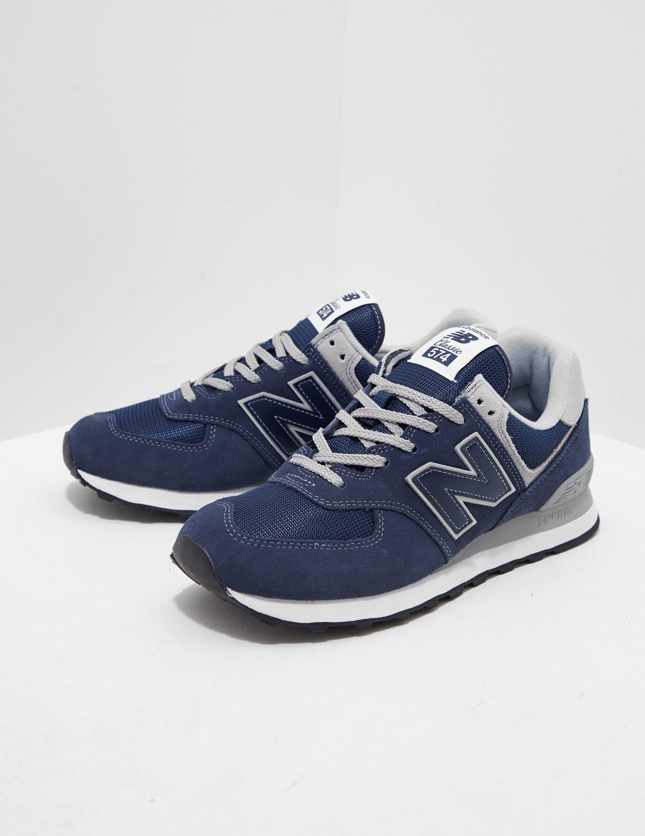 8485f6f9a0dae New Balance 574 Core Navy Shoes in Blue for Men - Lyst