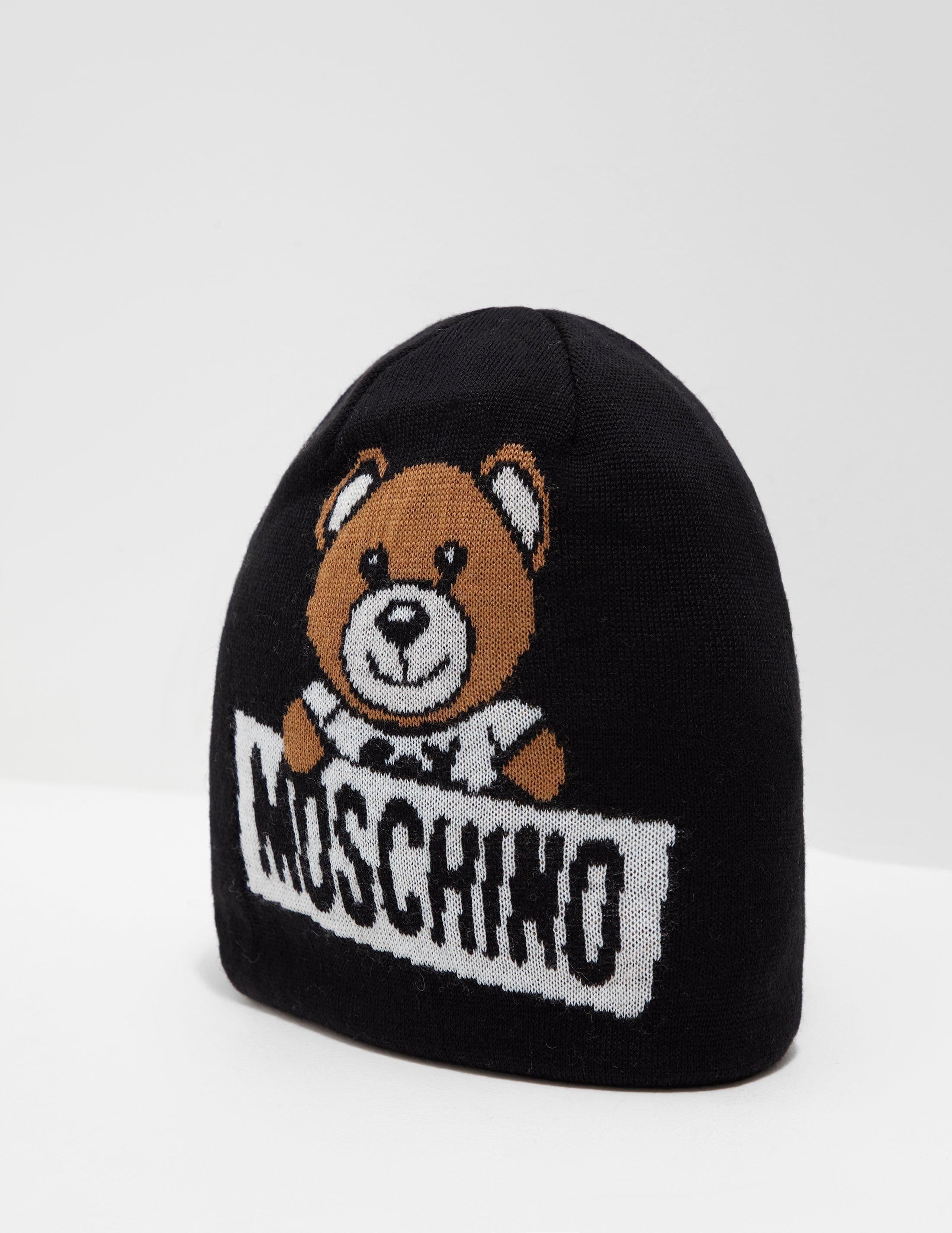 6dee10ffe9bb8 Moschino Womens Logo Bear Beanie Black in Black - Lyst