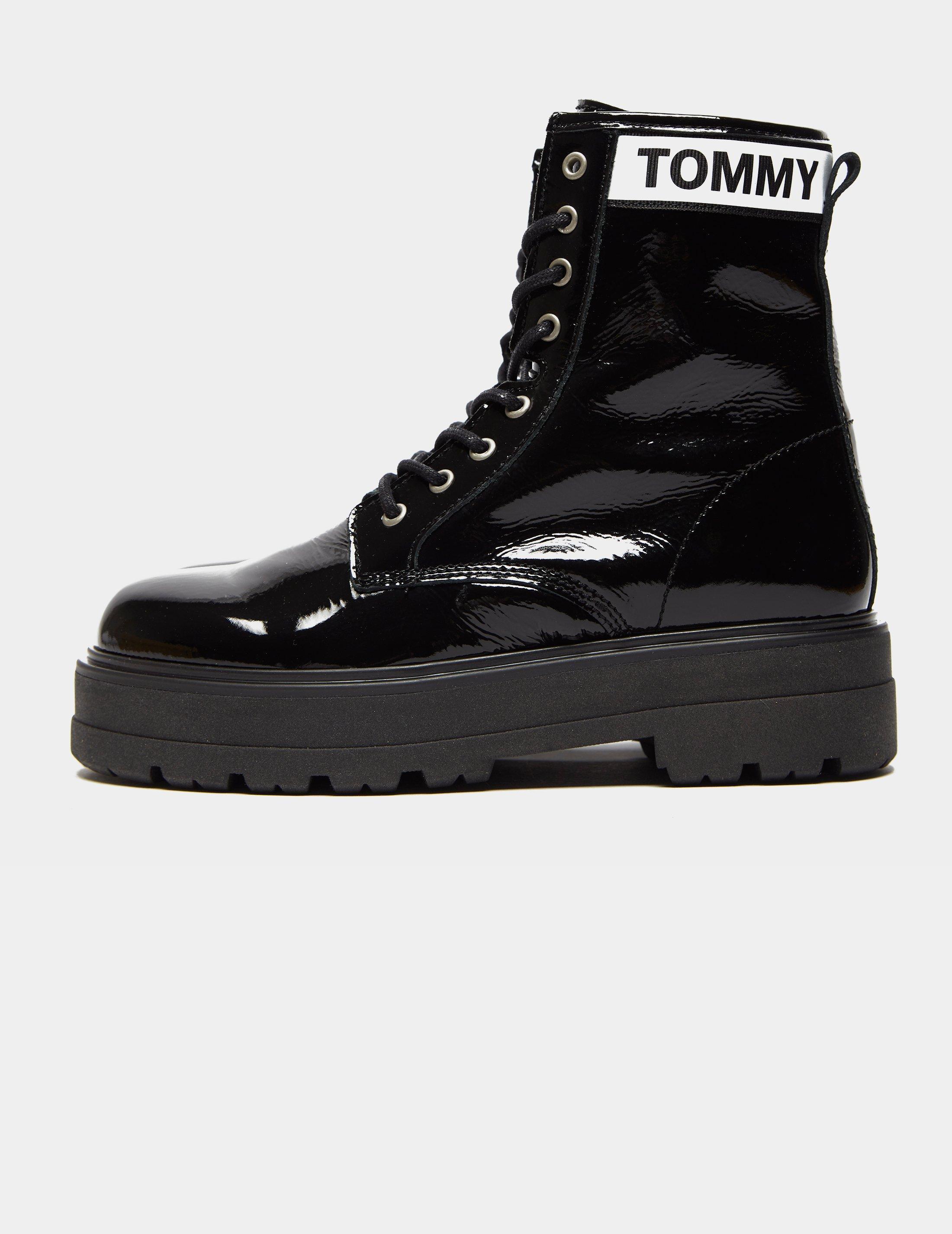 Tommy Hilfiger Leather Patent Platform
