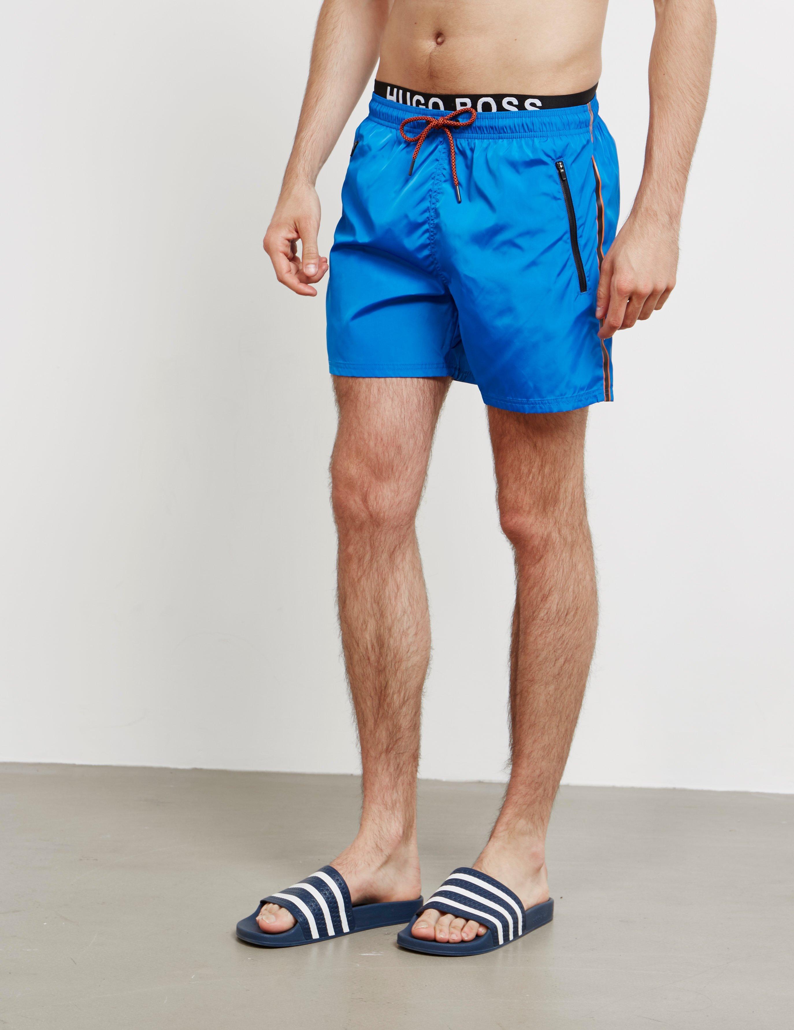 6511d4481e BOSS Thornfish Waistband Swim Shorts Blue in Blue for Men - Lyst
