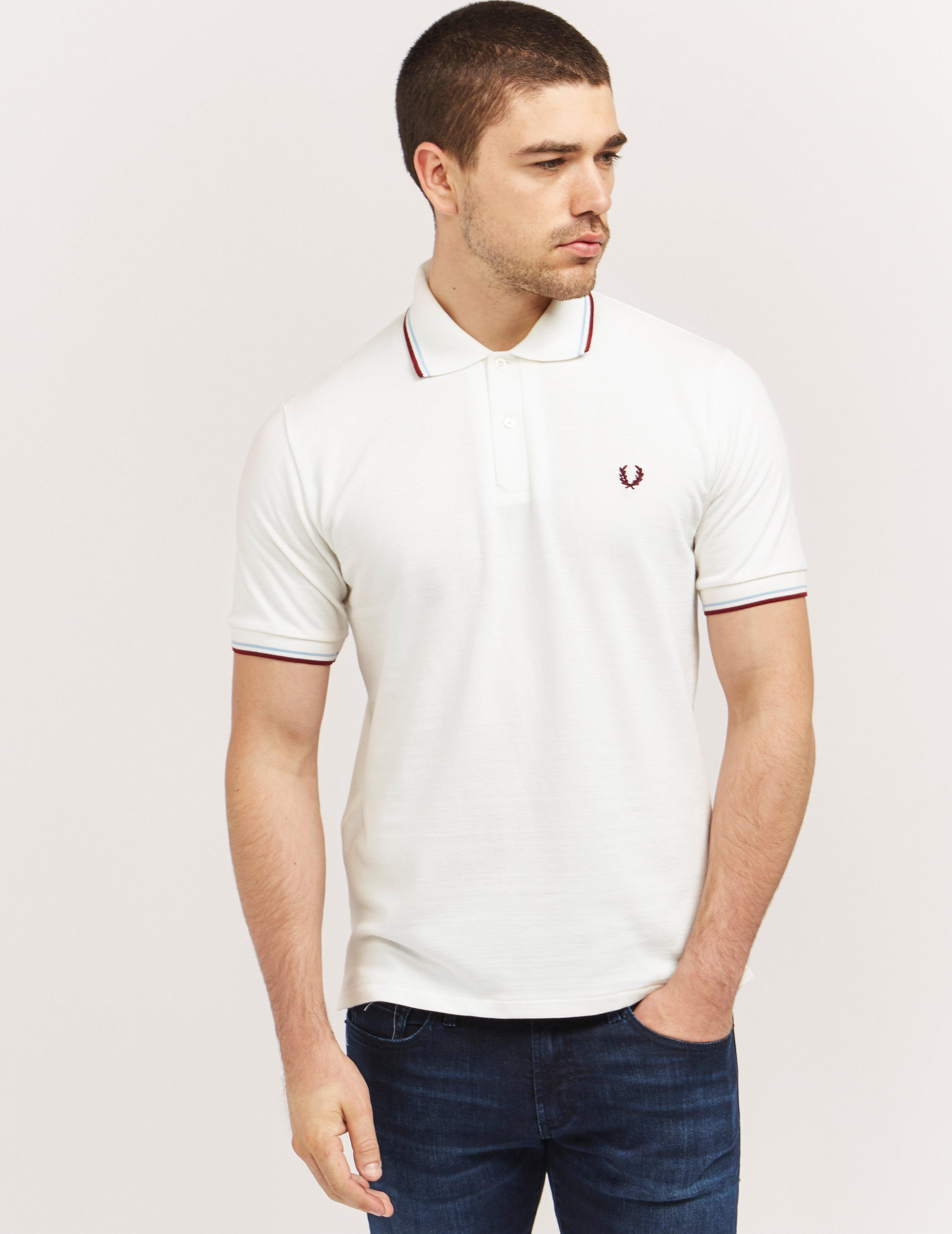 Fred Perry Cotton Made In England Tipped Polo Shirt in ...
