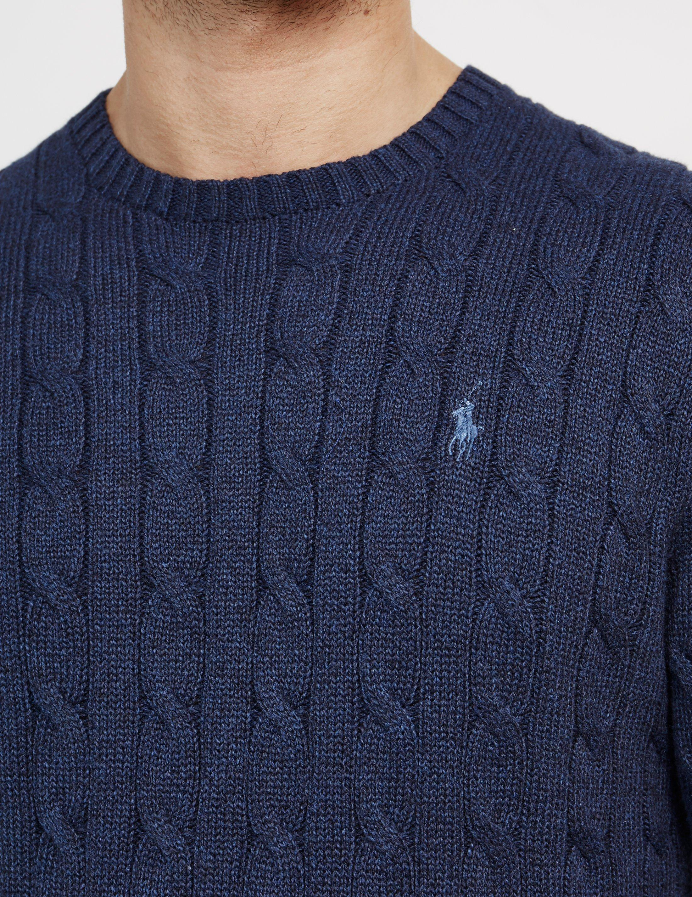 368b80123 Polo Ralph Lauren Mens Cable Knit Jumper Navy Blue in Blue for Men ...