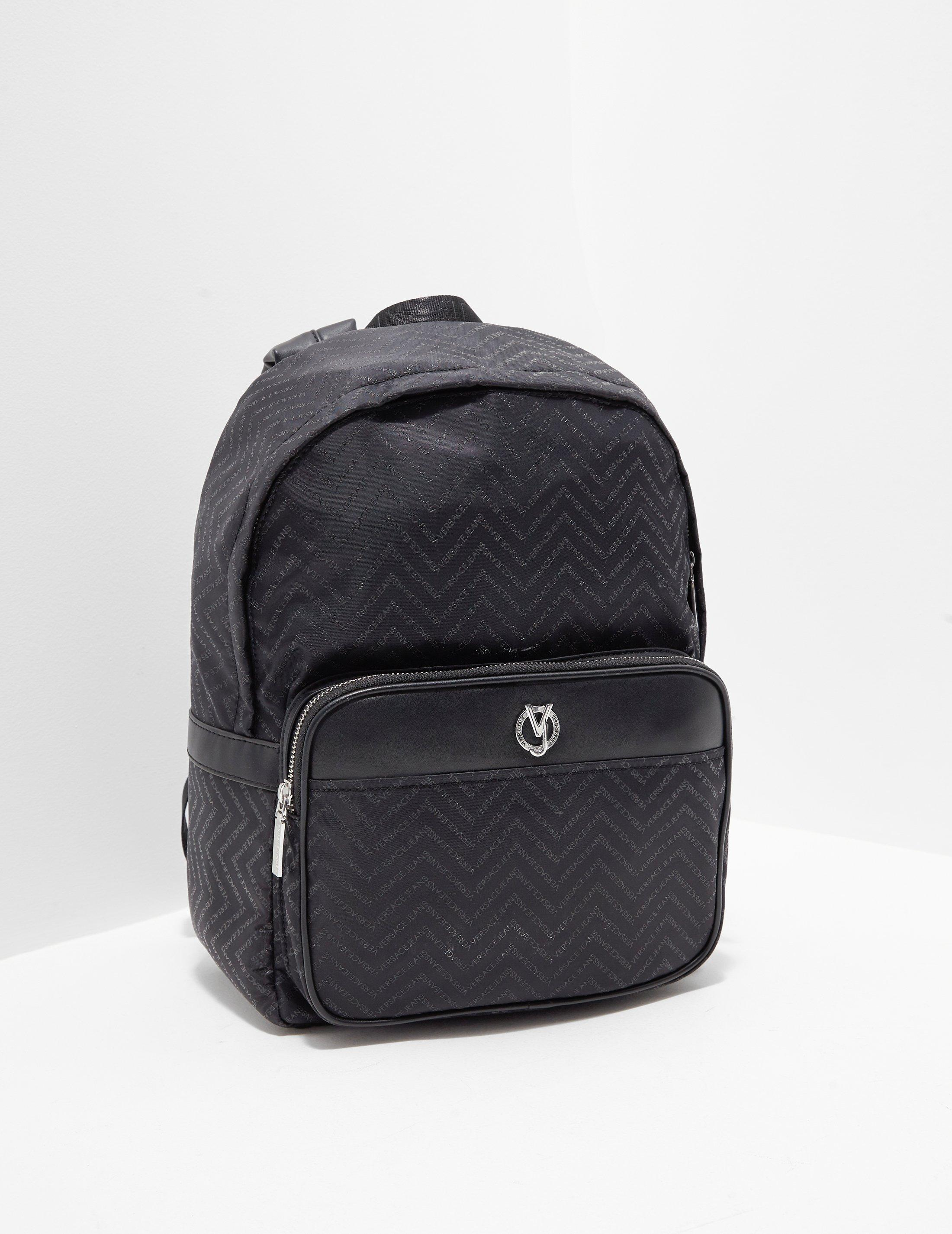 9675f41b83 Versace Jeans Linea Chevron Backpack Black in Black for Men - Save ...