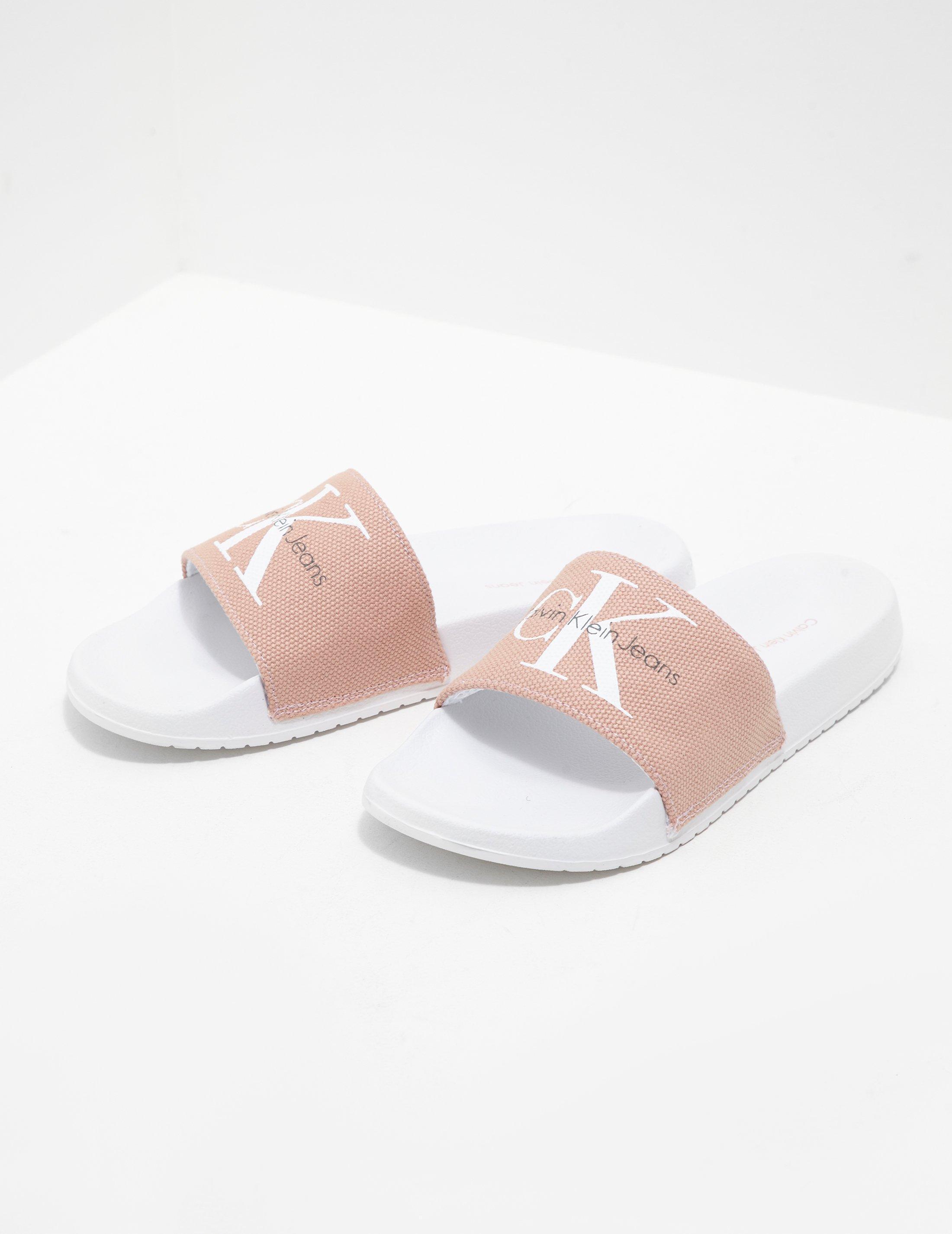 Calvin Klein Womens Chantal Slides Pink