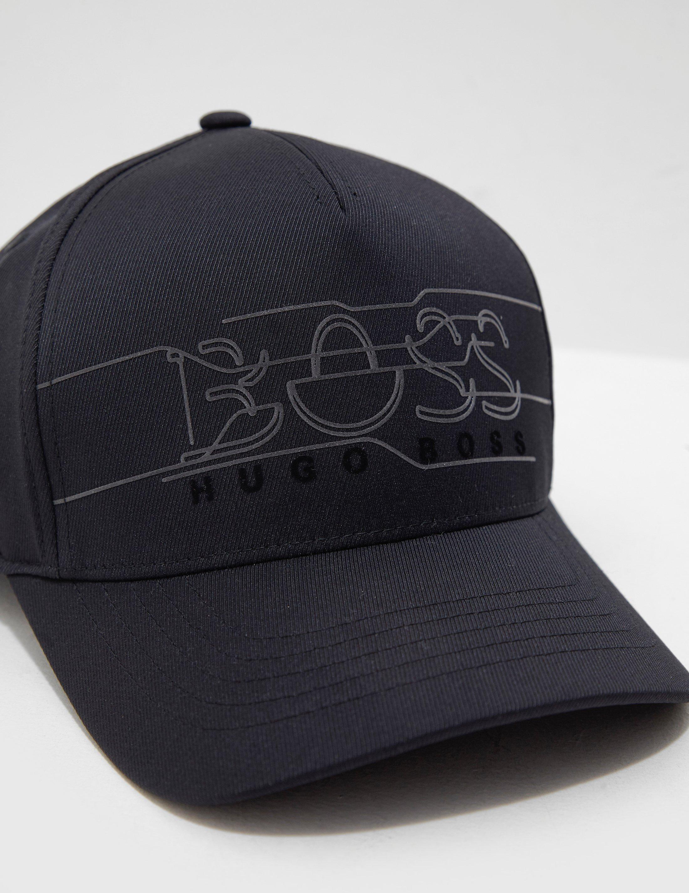 19405cc6e1e201 BOSS Reflective Logo Cap - Online Exclusive Black in Black for Men - Lyst