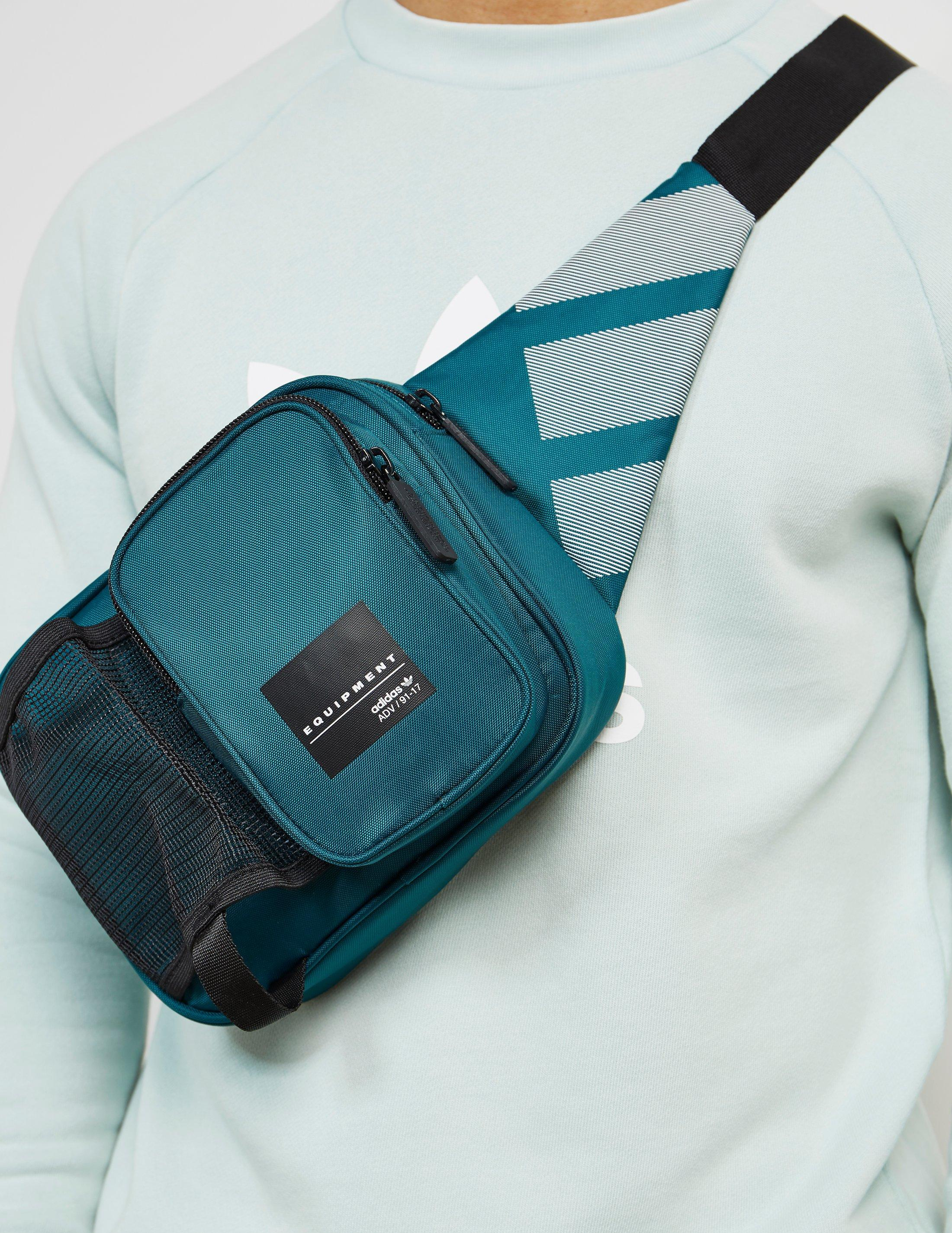 adidas Originals Mens Eqt Side Bag Green black in Green for Men - Lyst 3e32c24fc6e