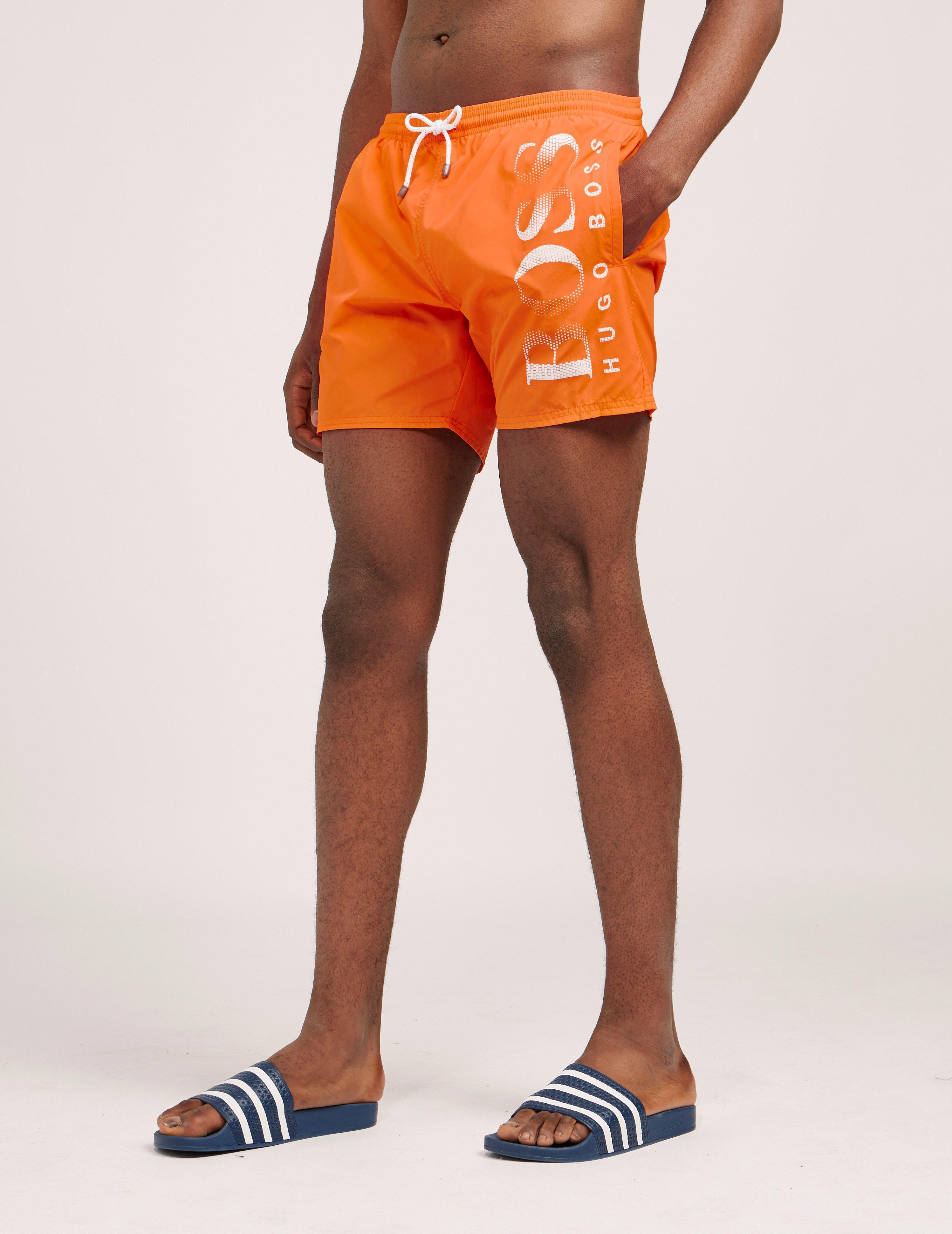 4fd9d5c02 BOSS Octopus Swim Shorts Orange in Orange for Men - Lyst