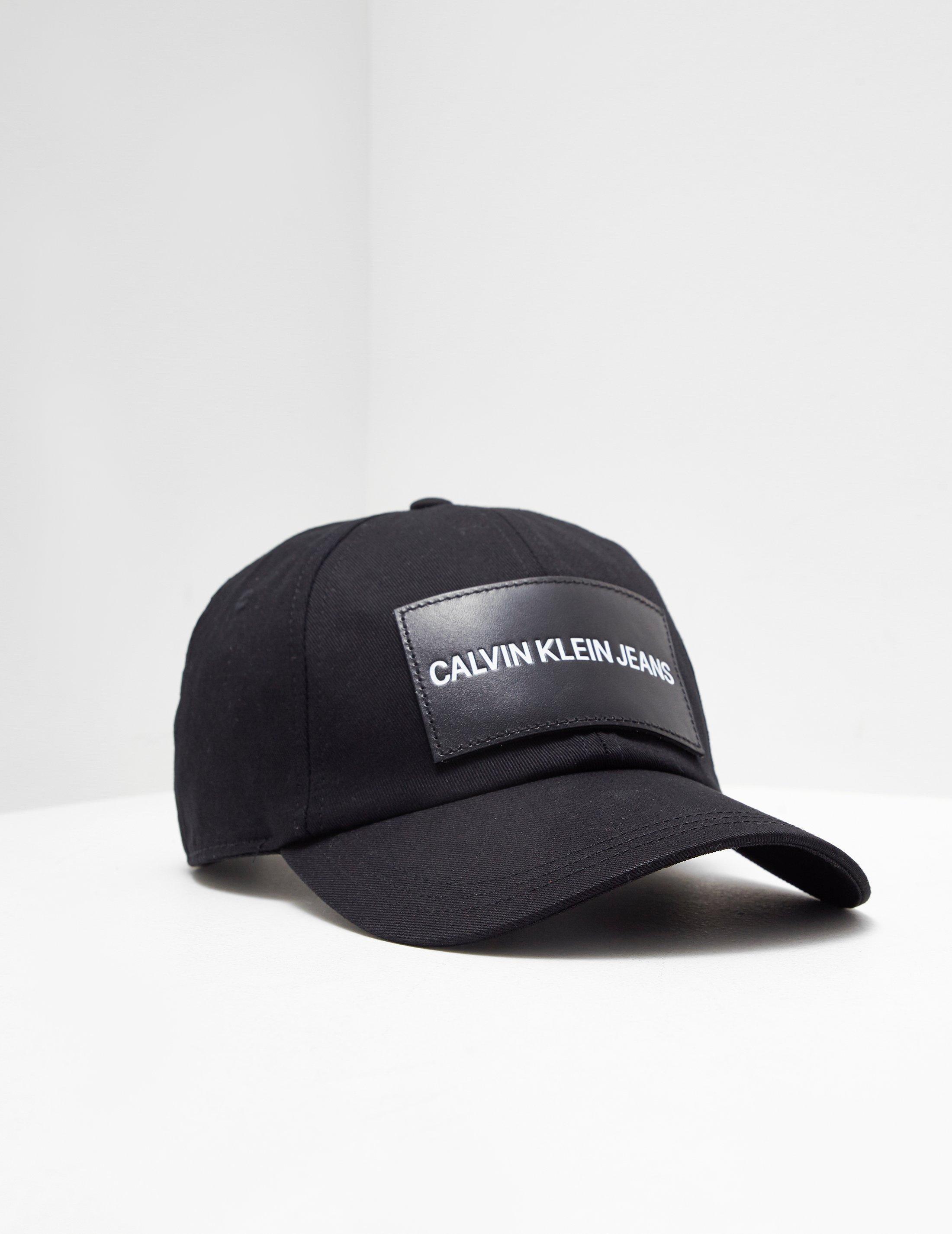 282cb4be5c4 Lyst - Calvin Klein Patch Logo Cap Black in Black for Men - Save 50%