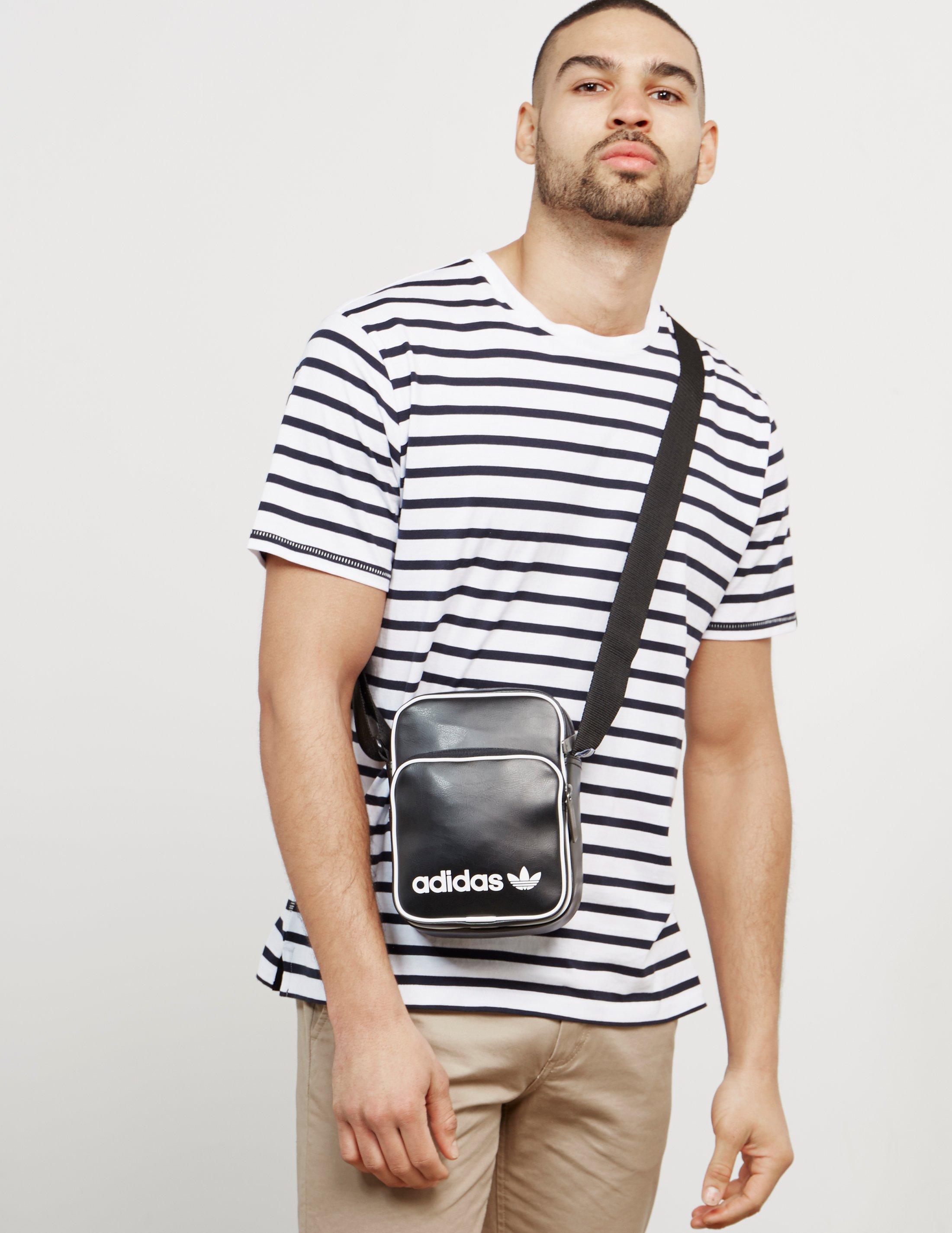 7262a9b756 Lyst - adidas Originals Mens Mini Bag Vintage Black in Black for Men