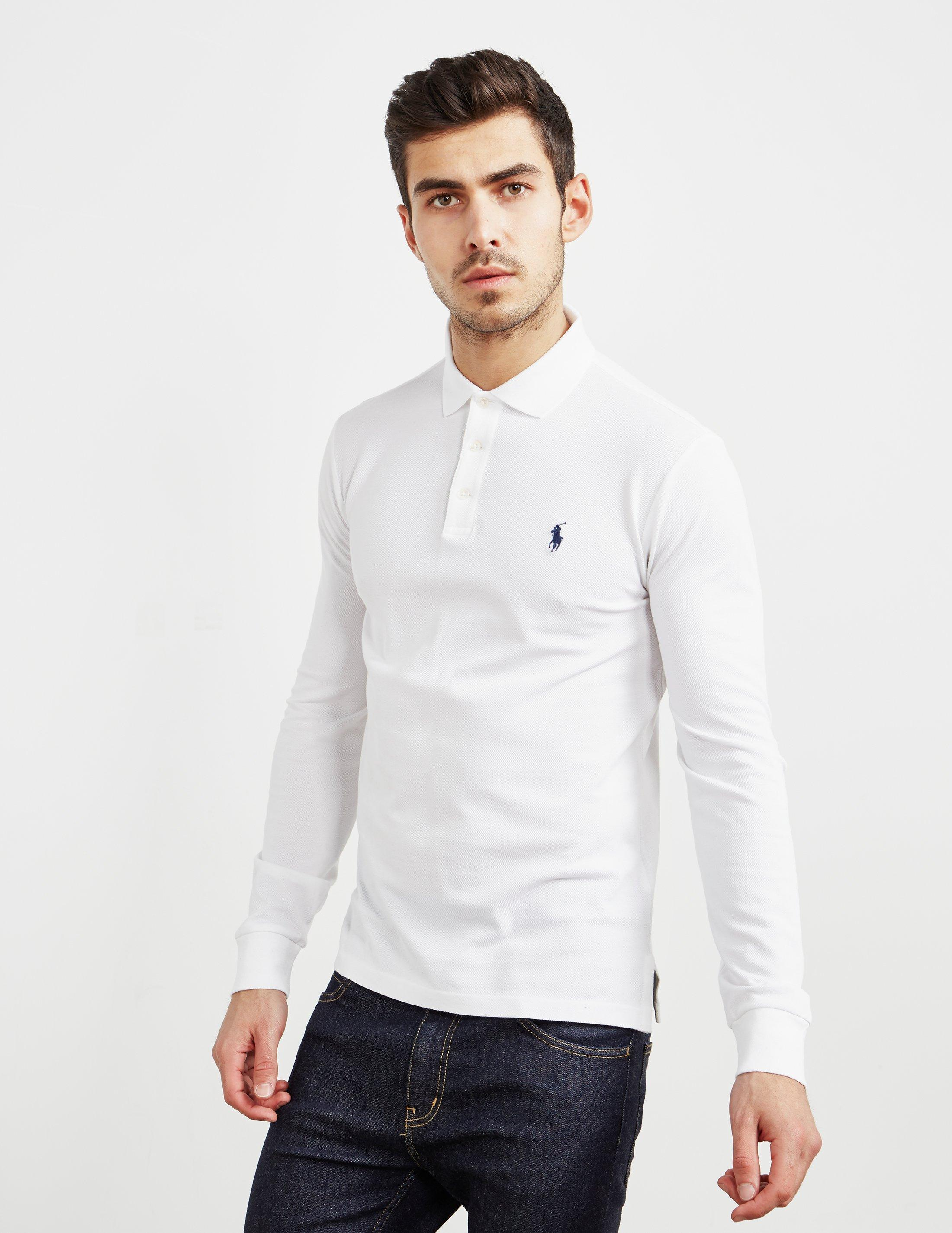 052f004c6560 Polo Ralph Lauren Stretch Long Sleeve Polo Shirt White in White for ...