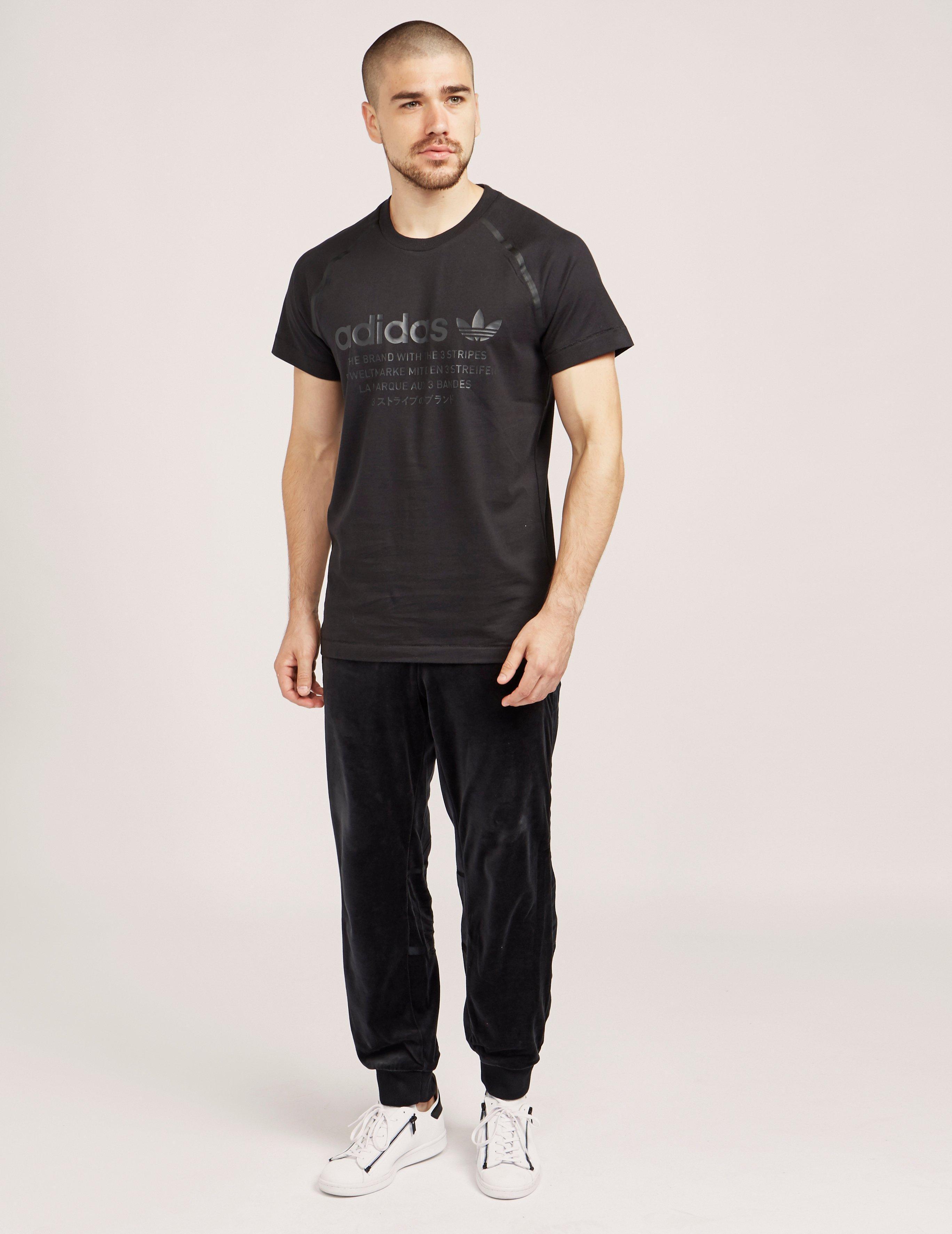44b1315a adidas Originals Nmd Logo Short Sleeve T-shirt Black in Black for Men - Lyst