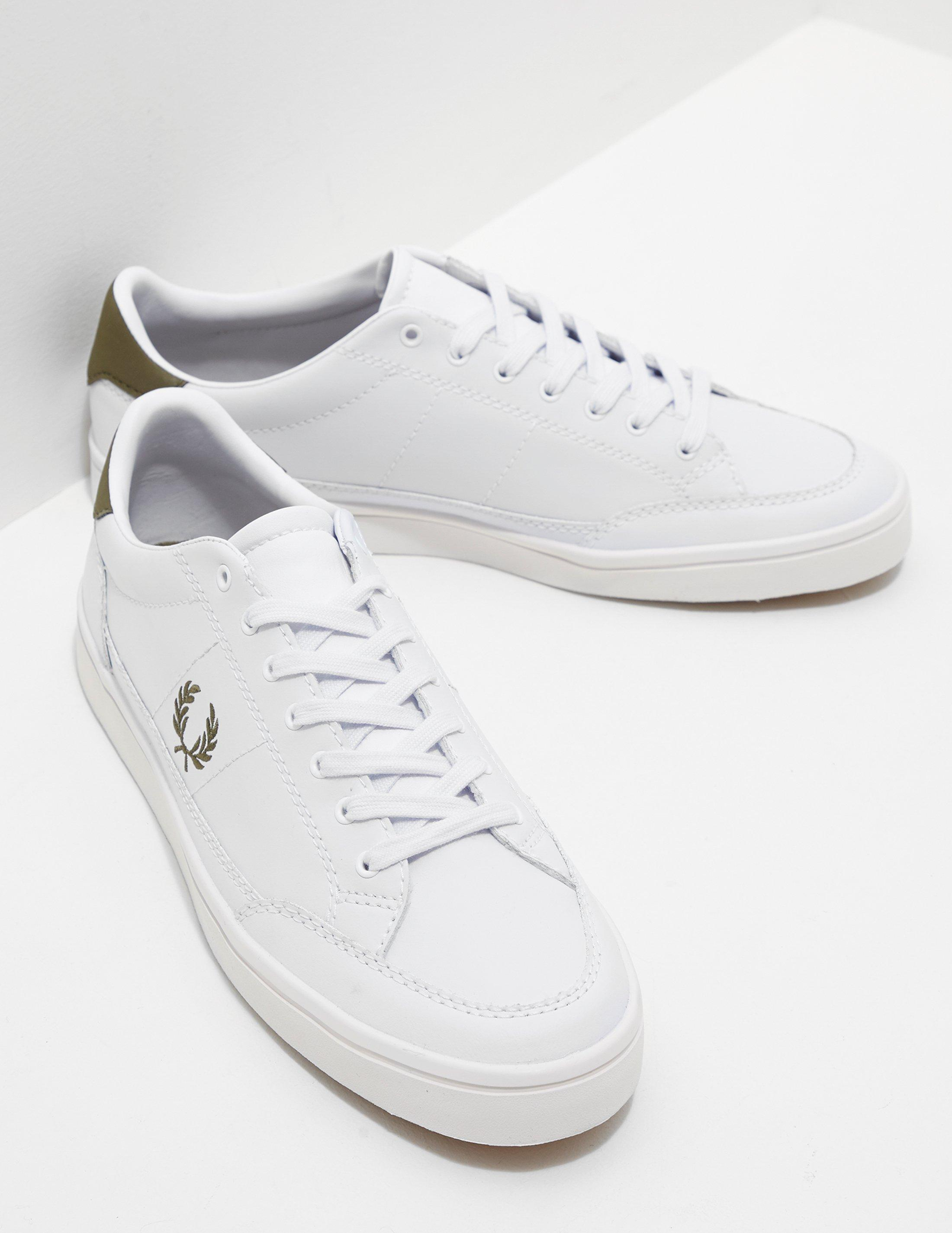 2b6fd15dfdc7b Fred Perry Mens Deuce Leather White in White for Men - Lyst