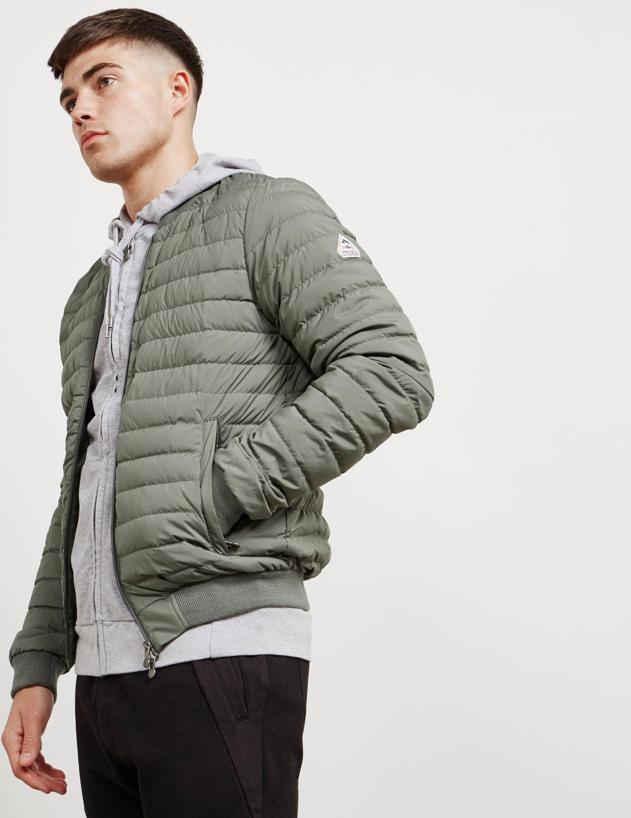 248f027bf Lyst - Pyrenex Mens Bruno Down Padded Bomber Jacket Olive/olive in ...