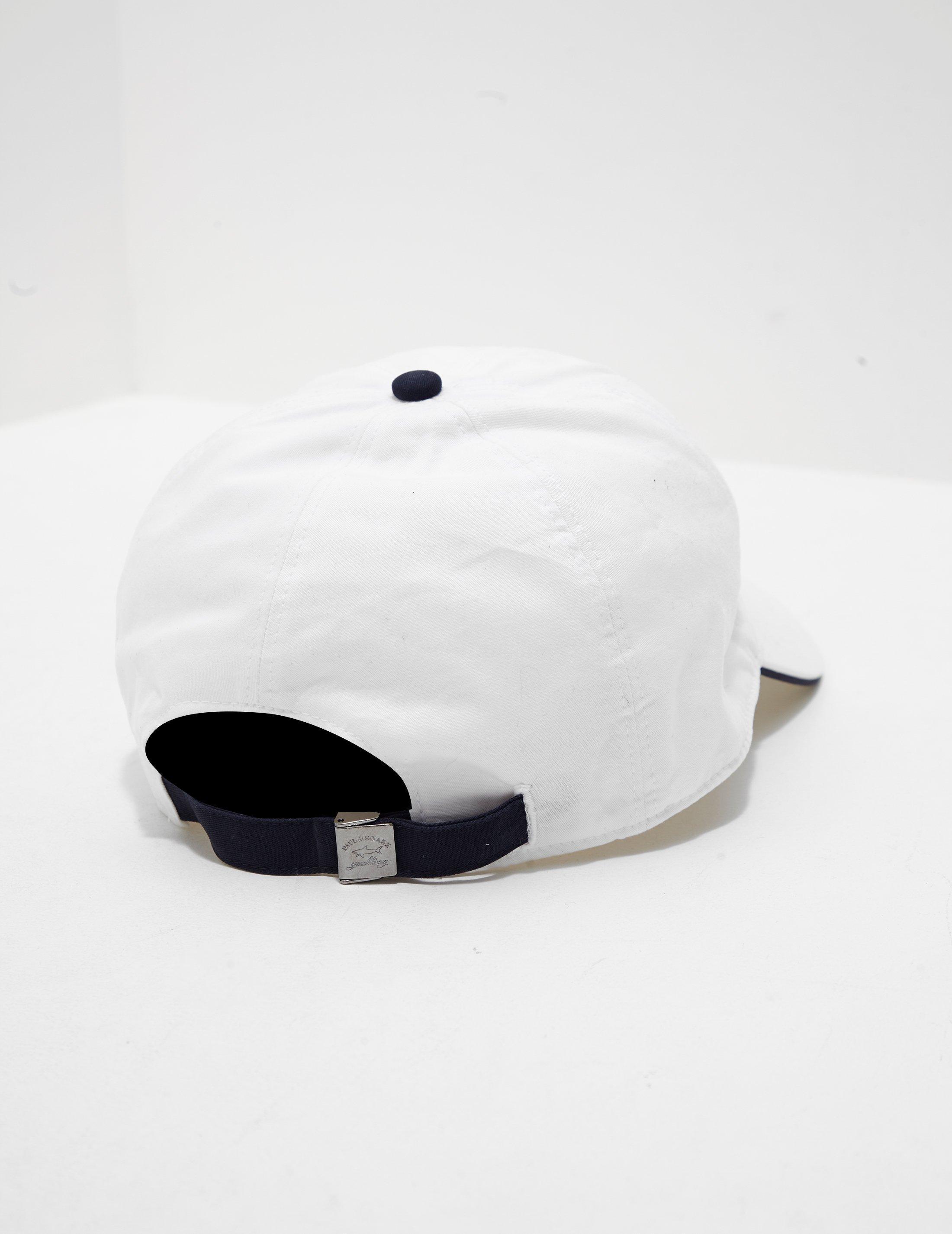 Paul   Shark Mens Shark Logo Cap White in White for Men - Lyst 2f488a23b3ab