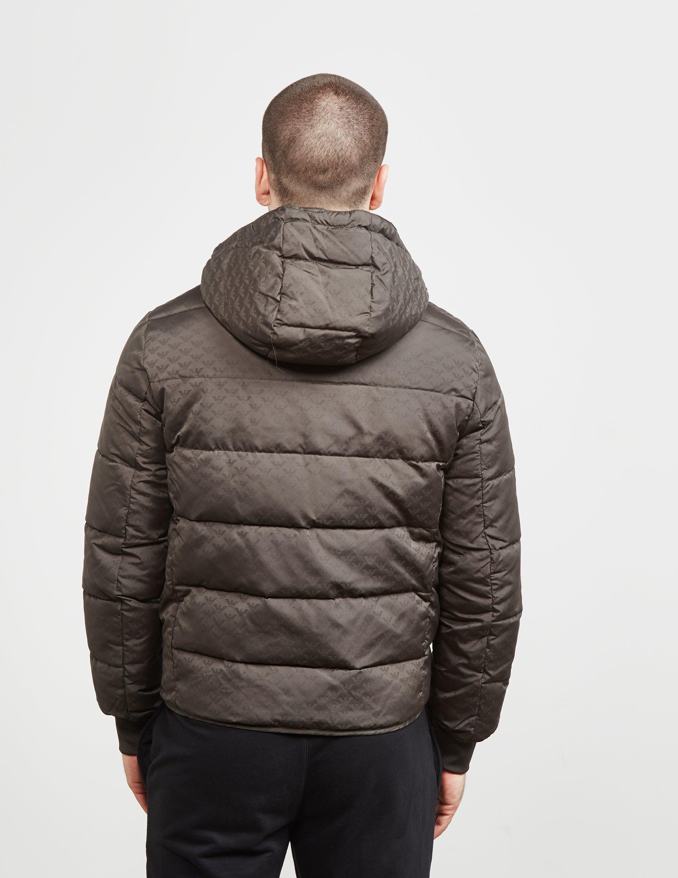 b110a7c85028 Emporio Armani Mens Eagle Print Down Padded Jacket Khaki khaki in ...