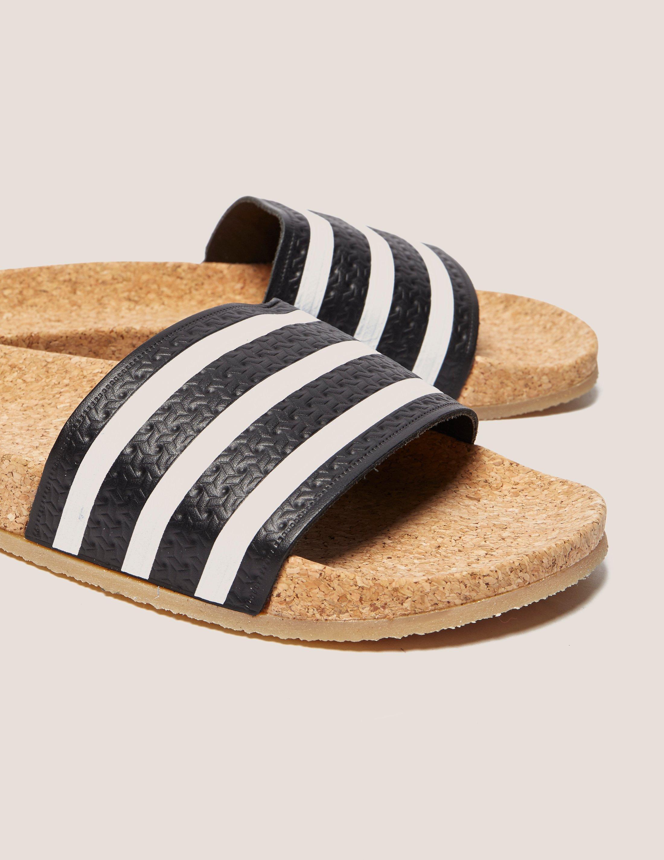 47e8795077a95 adidas Originals Adilette Cork Slides - Lyst