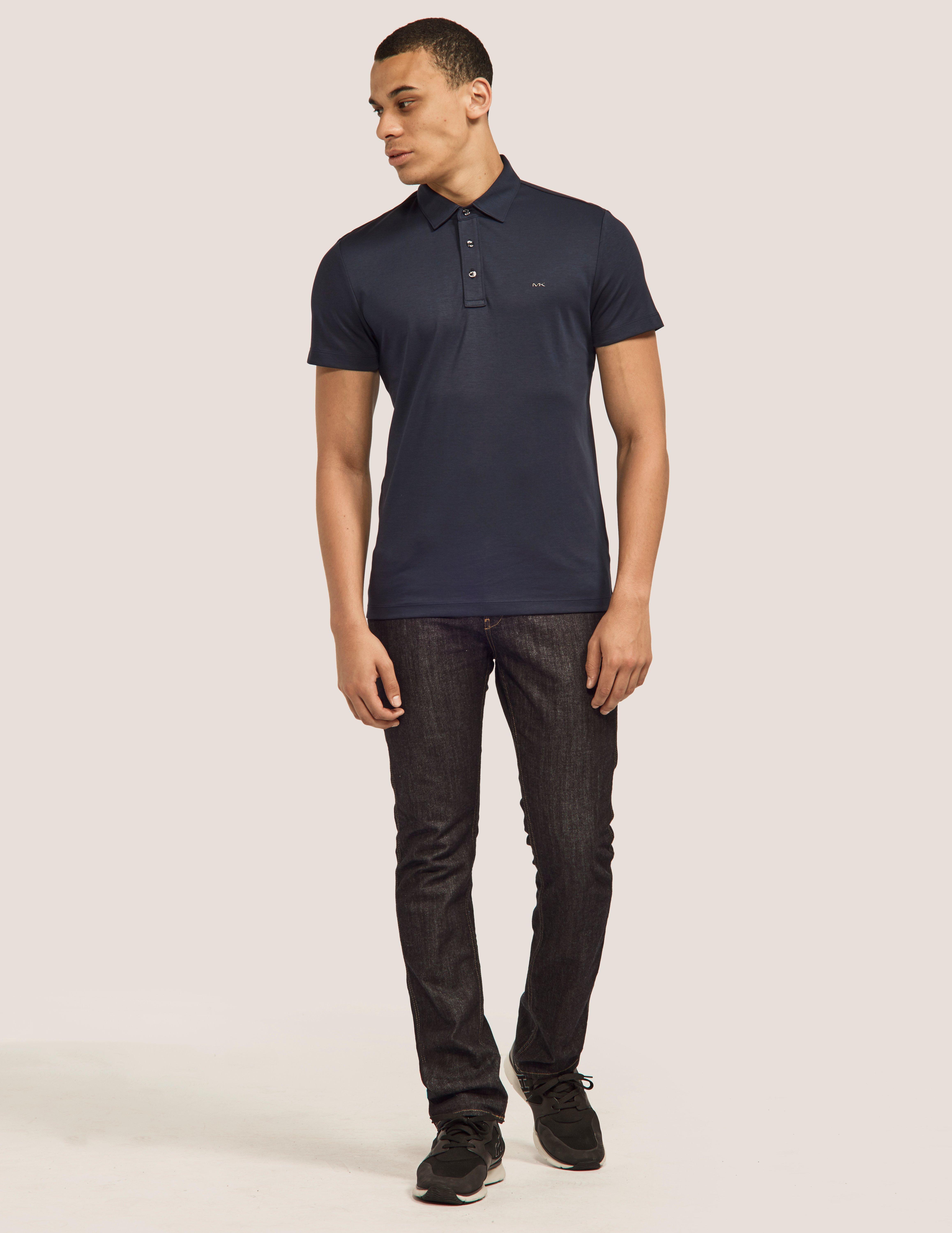 ecb5b0d1f Lyst - Michael Kors Mens Short Sleeve Sleek Polo Shirt Blue in Blue for Men  - Save 9.183673469387756%