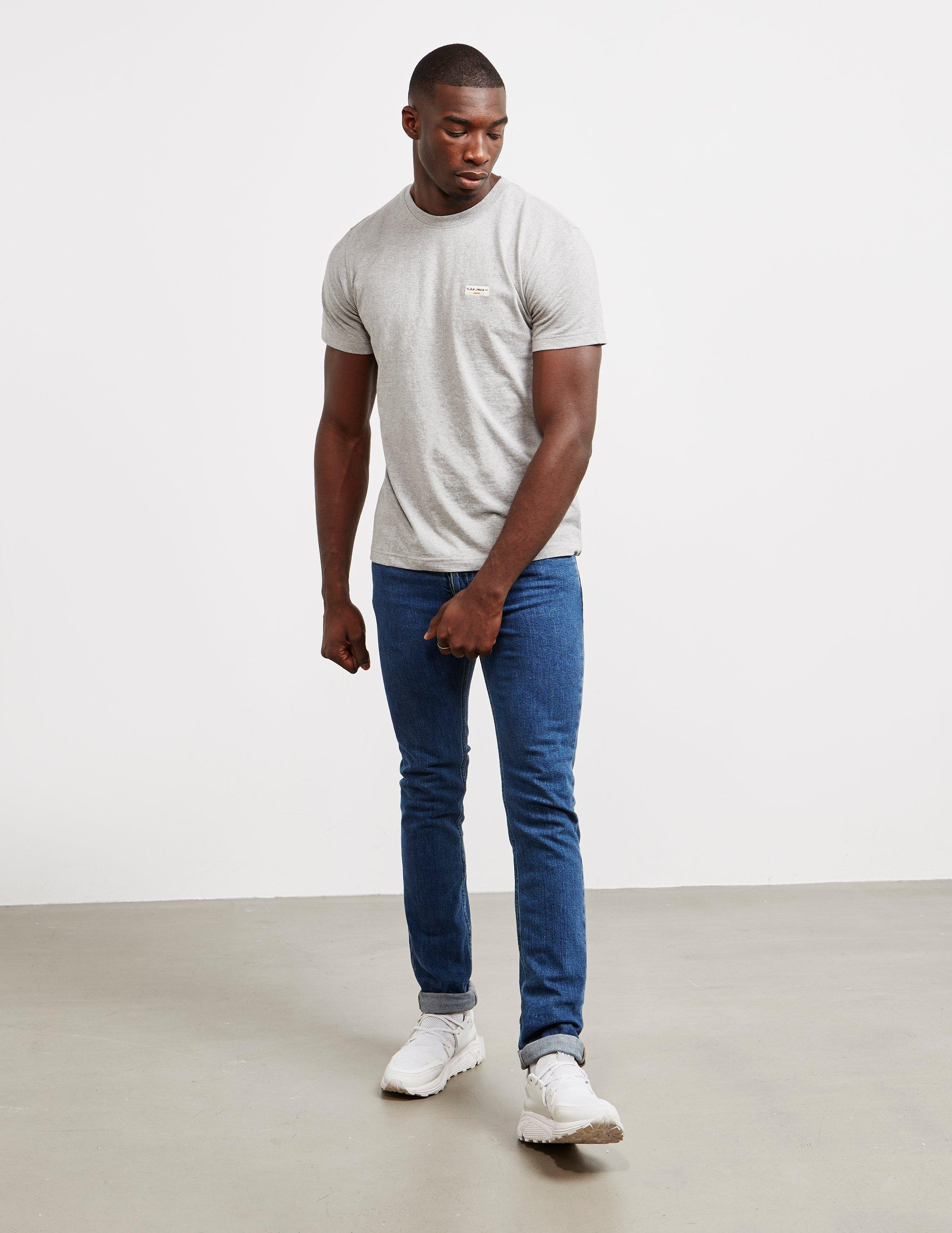 36f9101e Lyst - Nudie Jeans Daniel Logo Short Sleeve T-shirt Grey in Gray for Men -  Save 28%