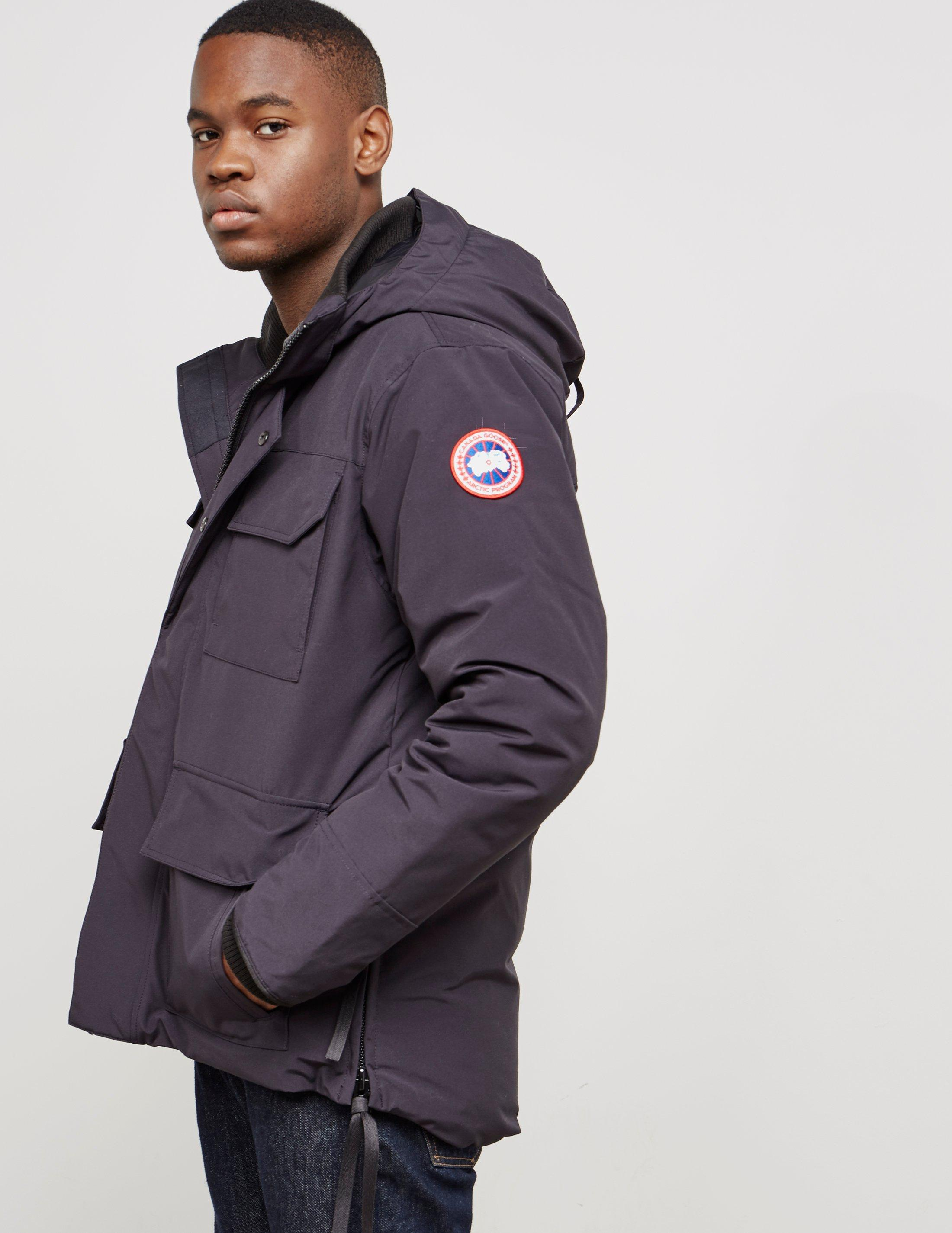 3dbe4a50621 Canada Goose Mens Maitland Padded Parka Jacket Navy Blue for men