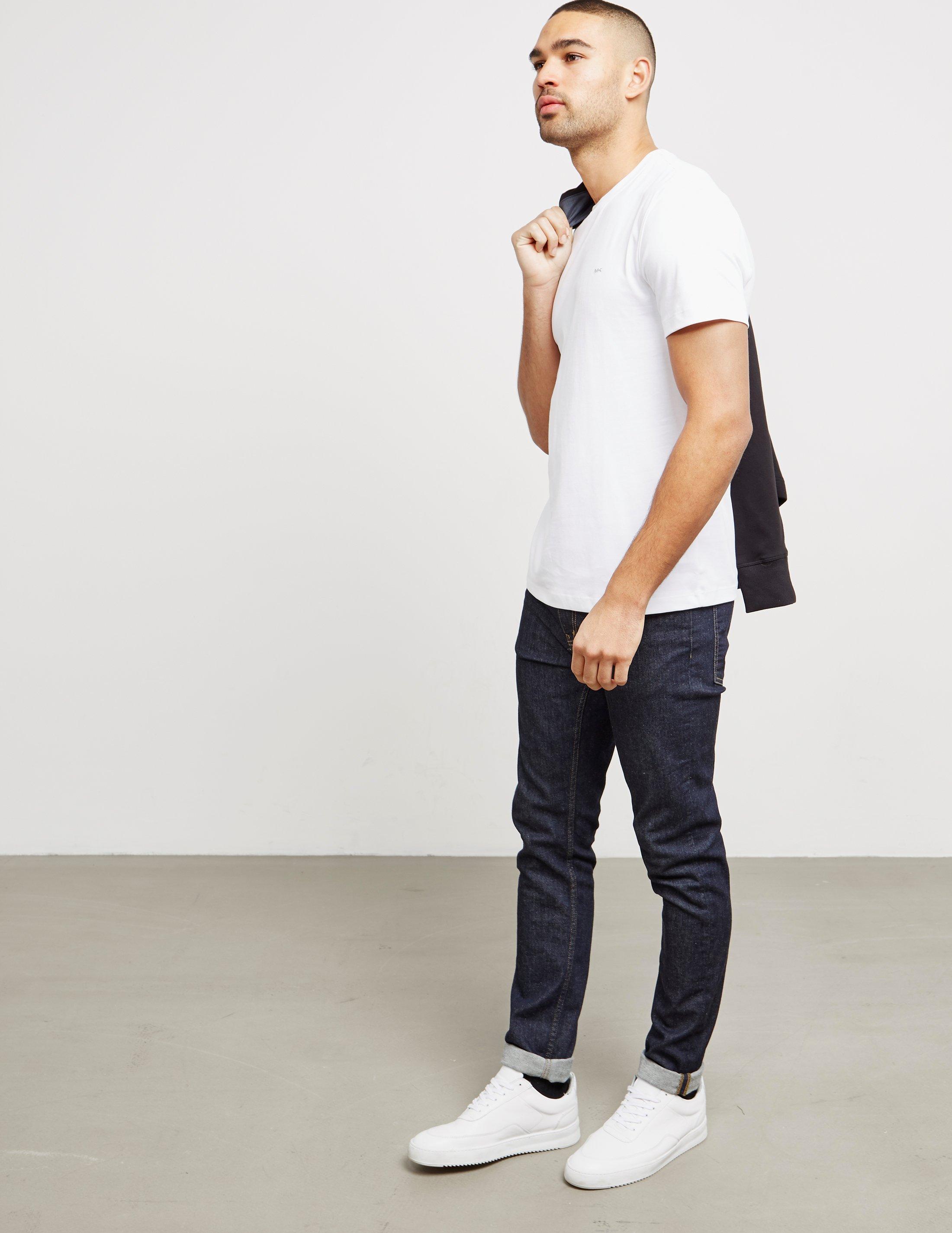 42e97a80e Lyst - Michael Kors Short Sleeve Sleek T-shirt White in White for ...