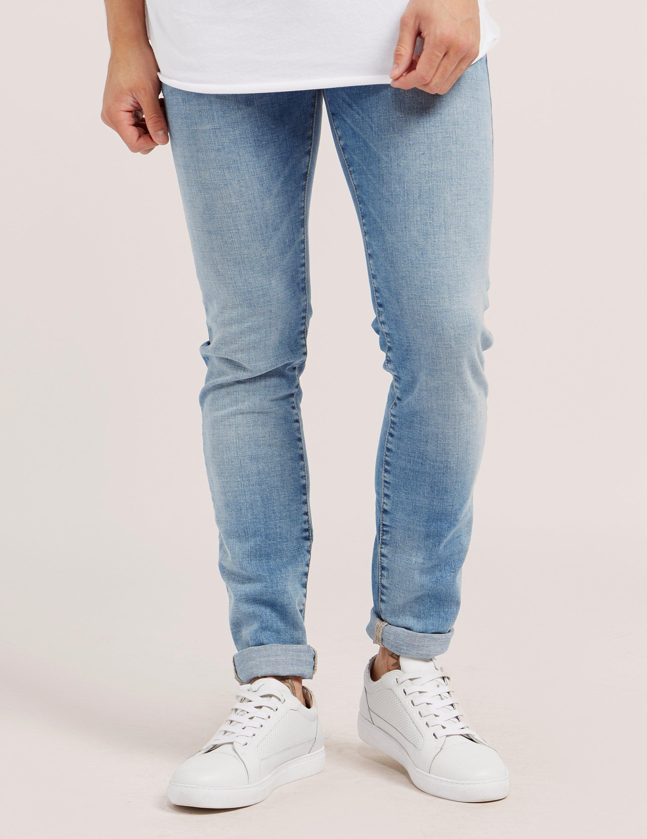 True Religion Denim Mens Tony Skinny Jeans Blue for Men