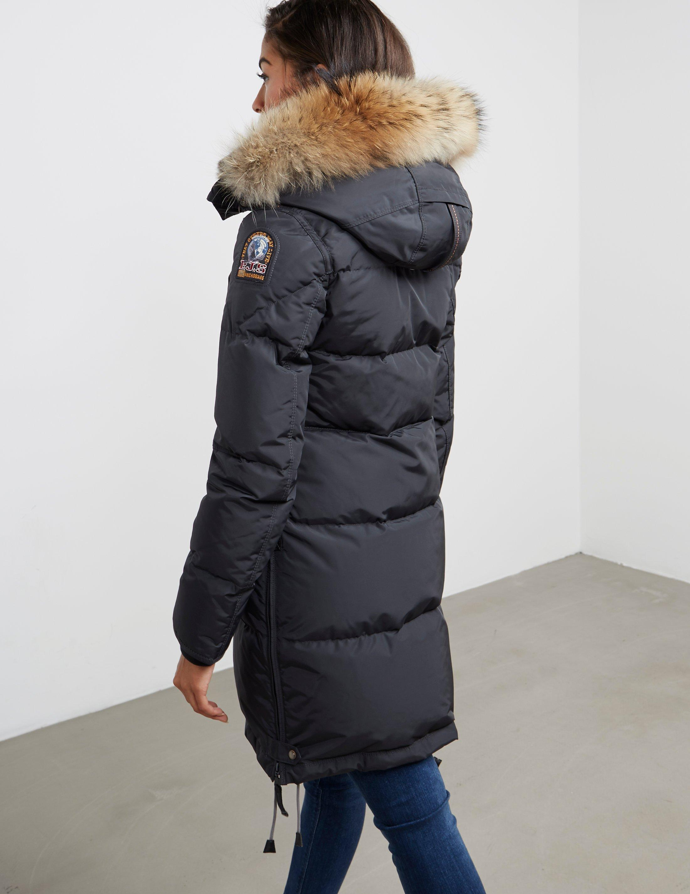 parajumpers long bear jacket in gray lyst. Black Bedroom Furniture Sets. Home Design Ideas